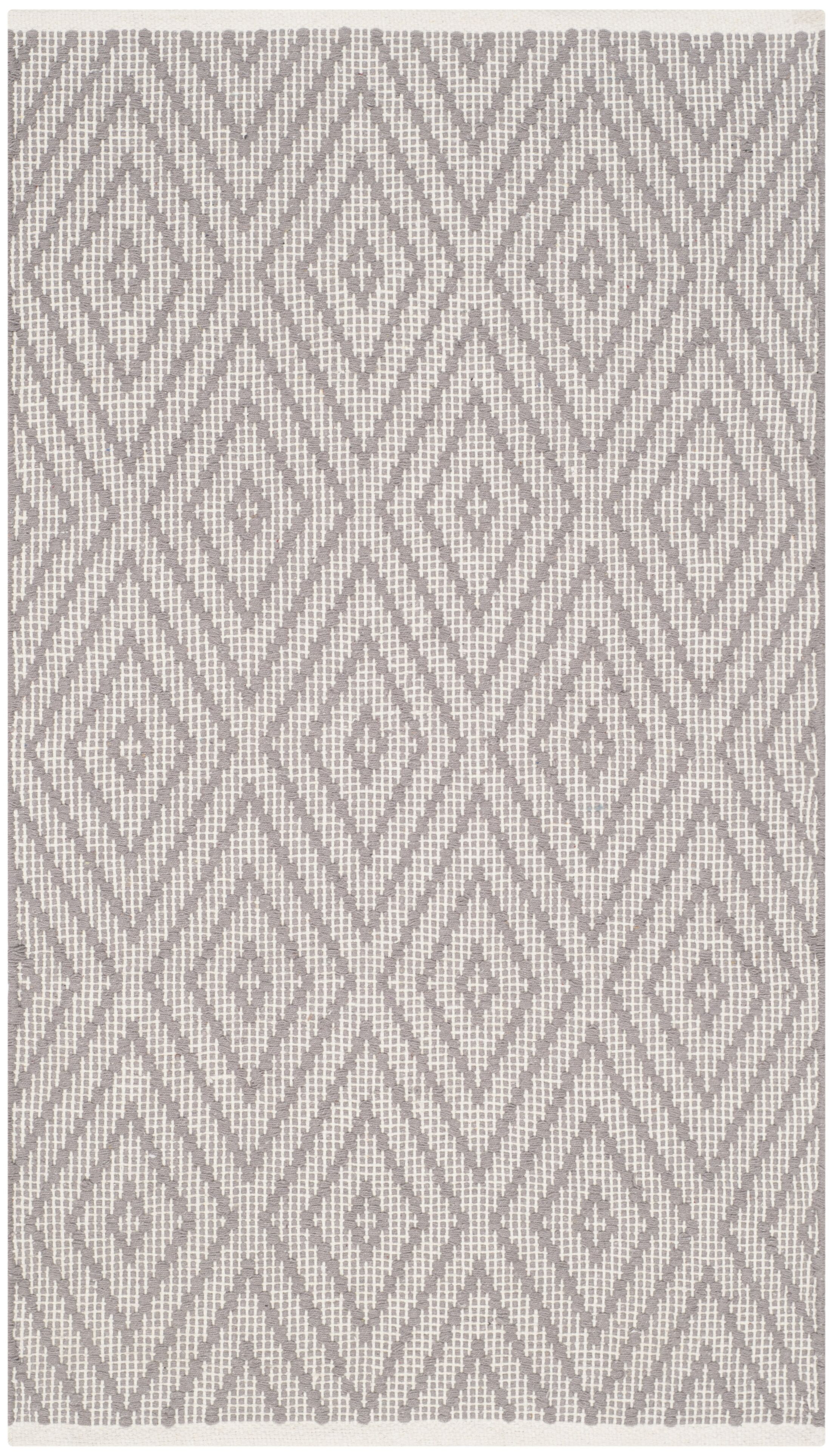 Alastair Hand-Woven Grey/Ivory Area Rug Rug Size: Runner 2'3