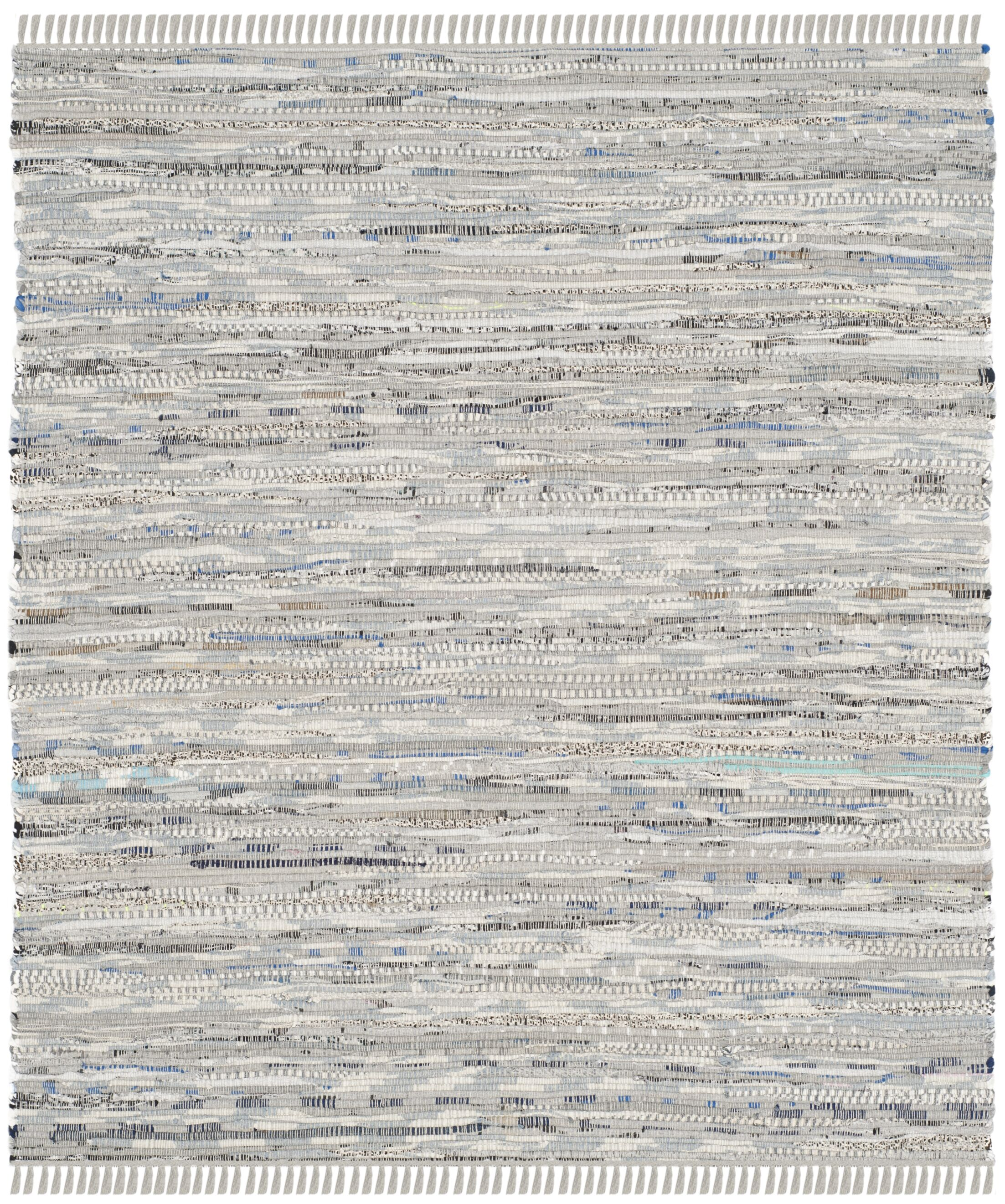 Havelock Striped Contemporary Hand-Woven Gray Area Rug Rug Size: Rectangle 9' x 12'