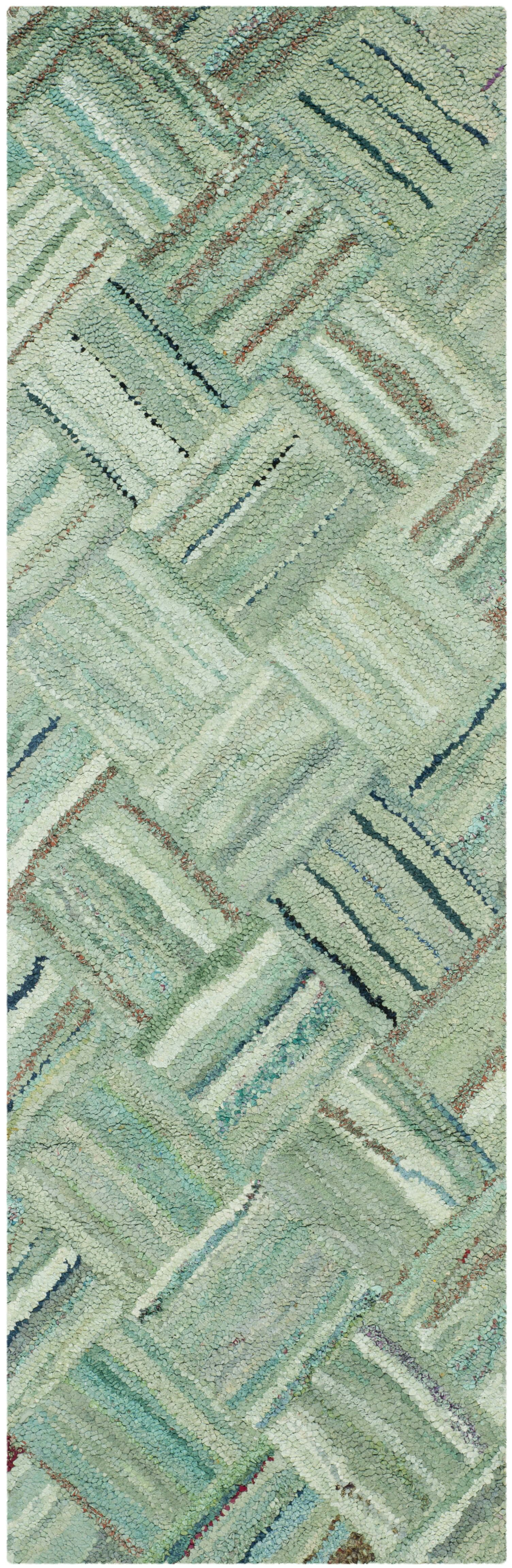 Millia Hand-Tufted Green Area Rug Rug Size: Runner 2'3