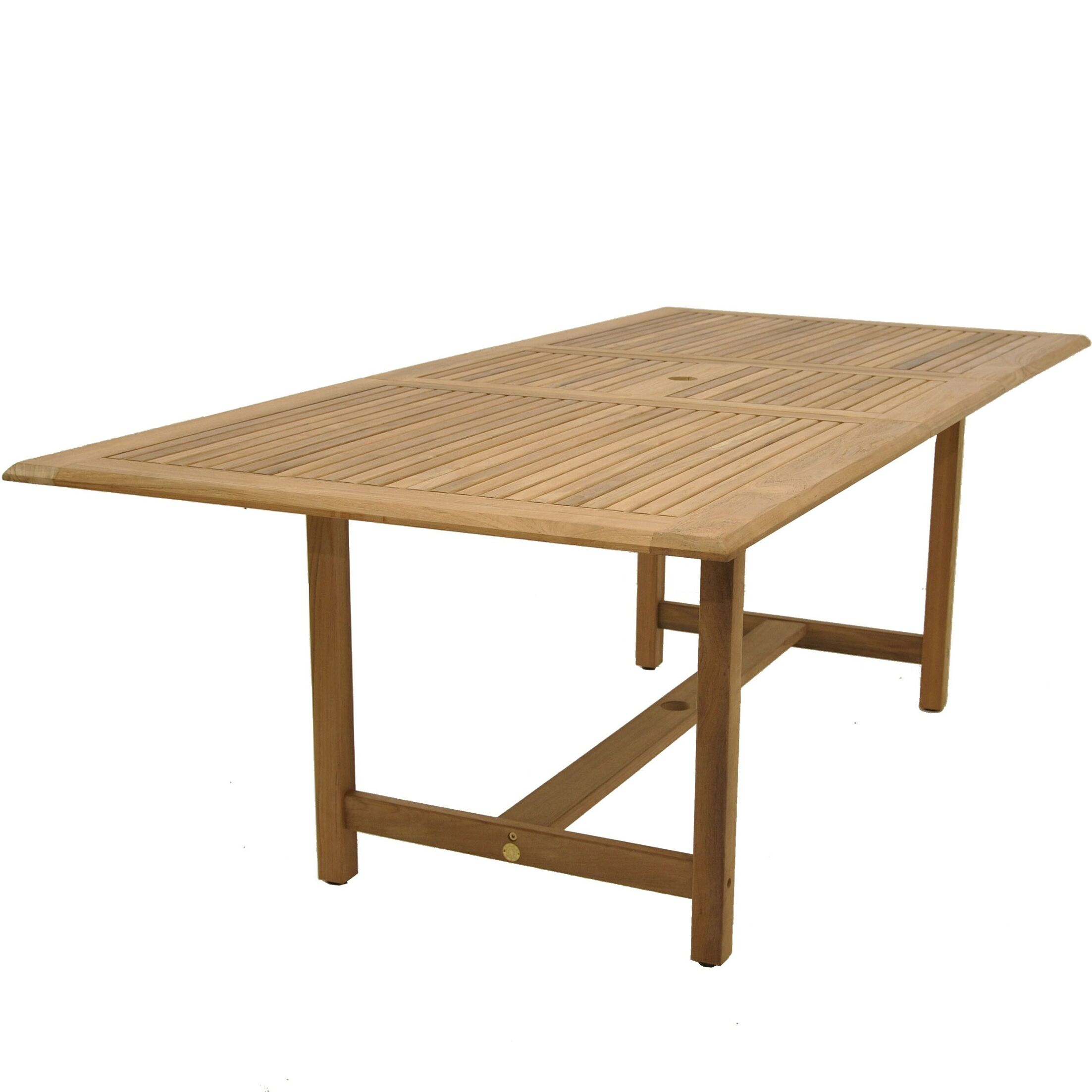 Bridgepointe Contemporary Rectangle Teak Dining Table