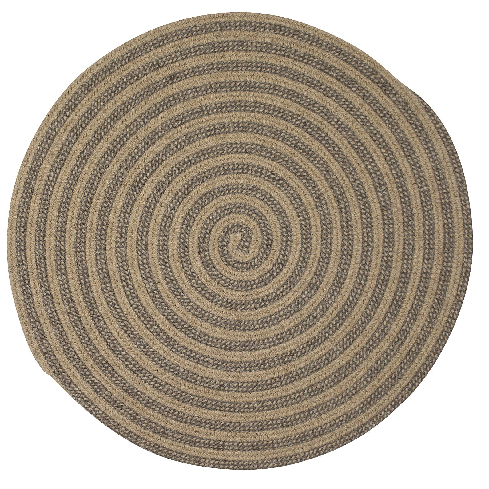 Cadenville Hand-Woven Area Rug Rug Size: Round 8'