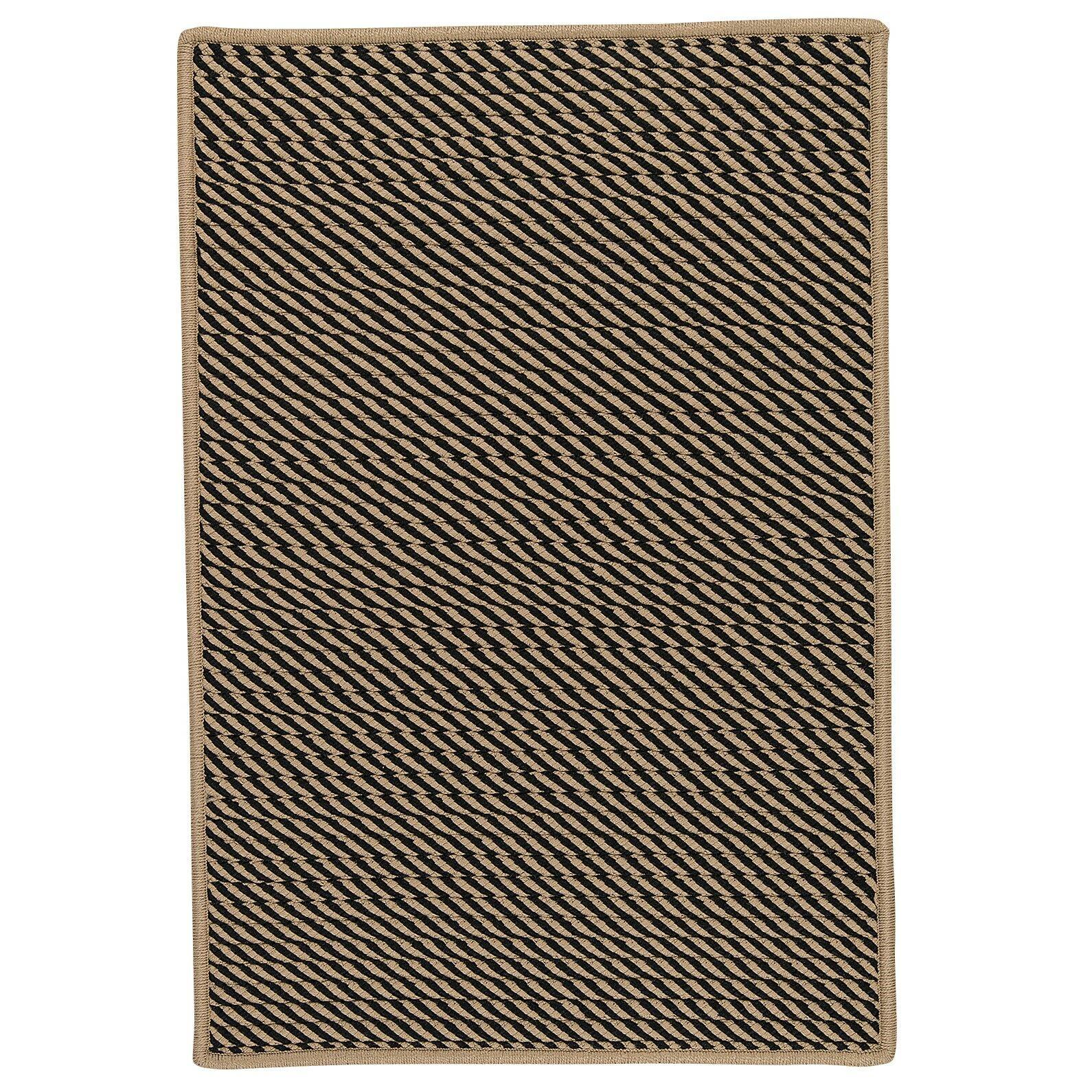 Mammari Hand-Woven Black Indoor/Outdoor Area Rug Rug Size: Rectangle 10' x 13'