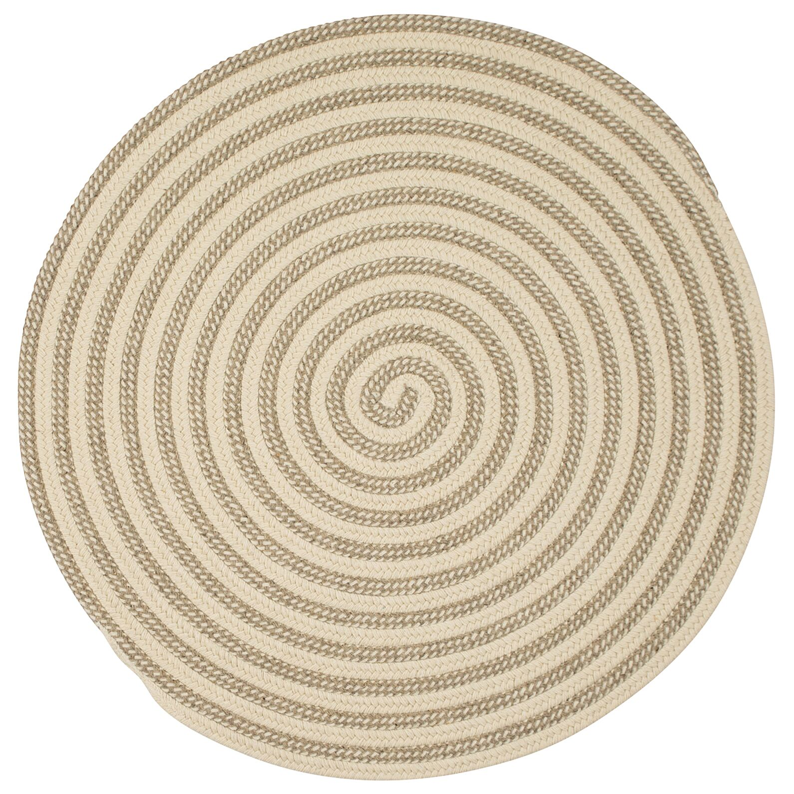 Cadenville Hand-Woven Natural Area Rug Rug Size: Round 10'