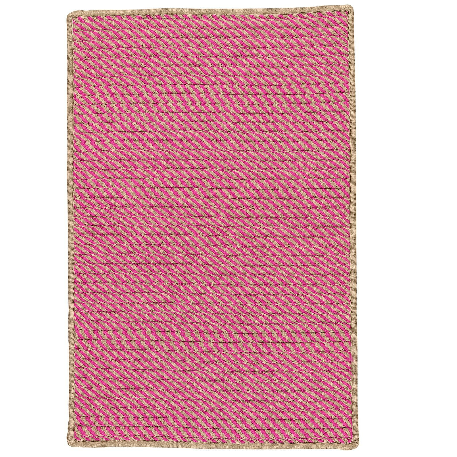 Mammari Hand-Woven Pink Indoor/Outdoor Area Rug Rug Size: Rectangle 8' x 11'