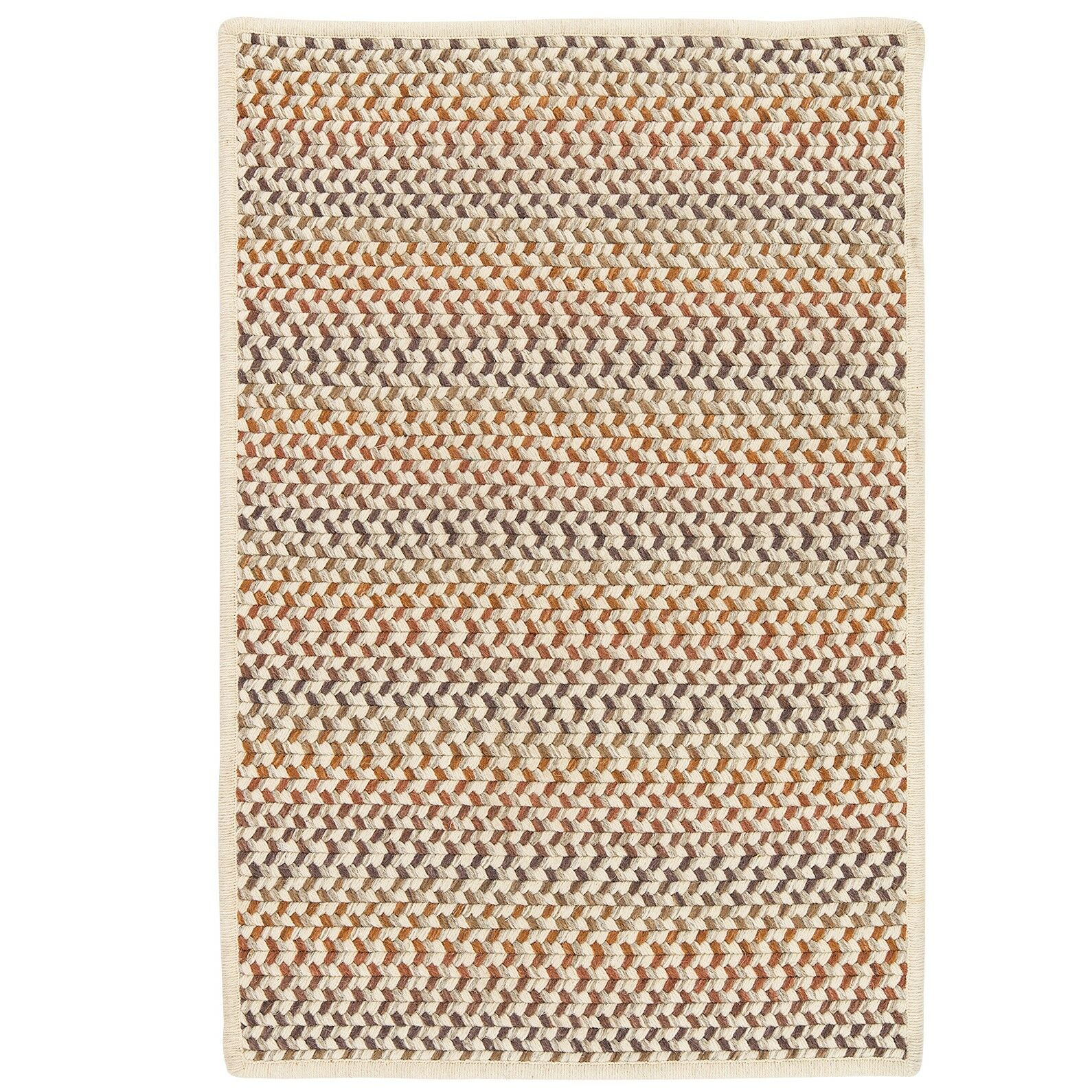 Arvie Hand-Woven Natural Wool Area Rug Rug Size: Rectangle 12' x 15'