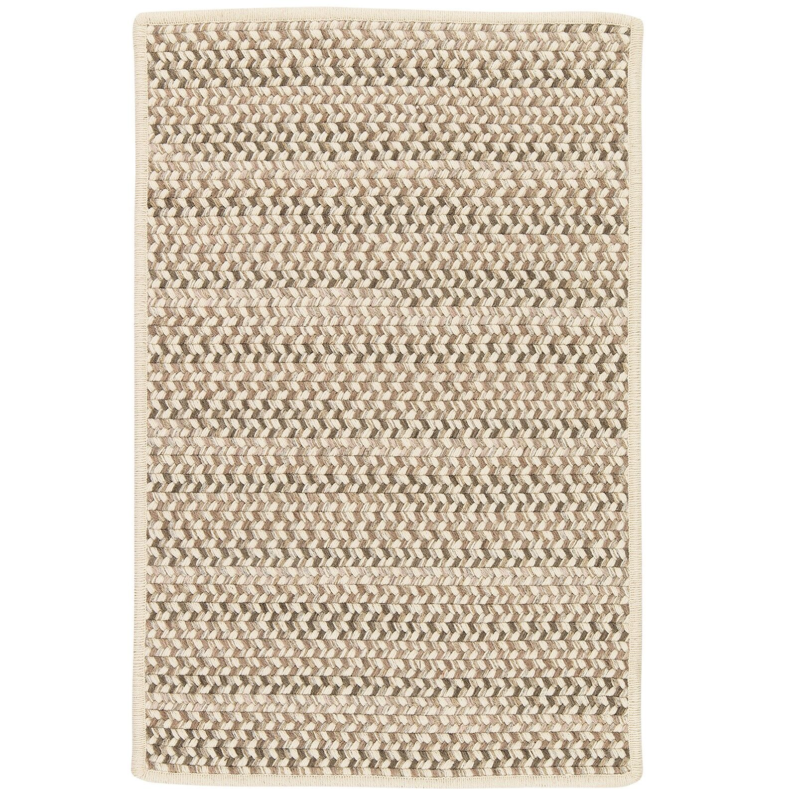 Arvie Striped Hand-Woven Natural Area Rug Rug Size: Rectangle 2' x 4'