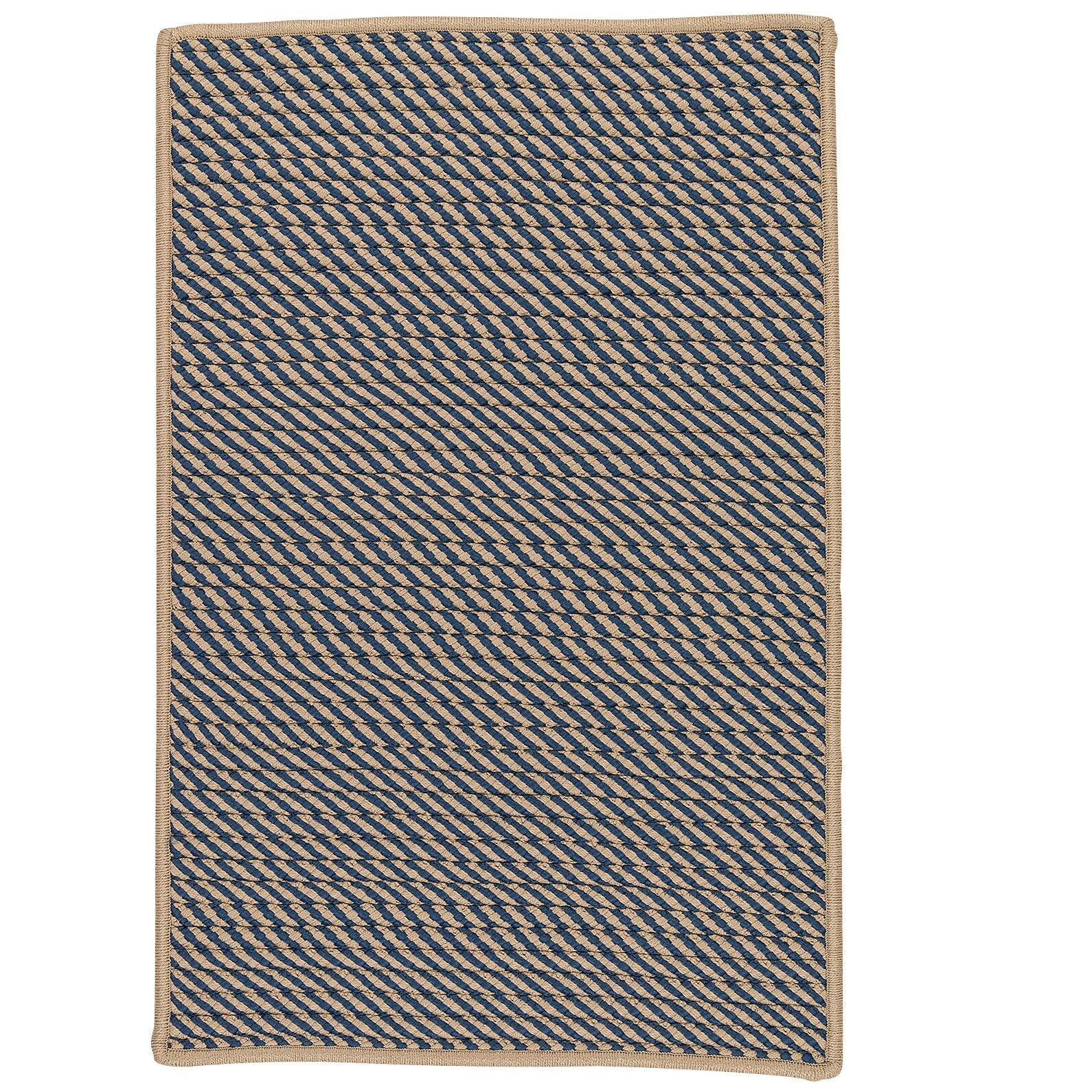 Mammari Striped Hand-Woven Blue Indoor/Outdoor Area Rug Rug Size: Rectangle 3' x 5'