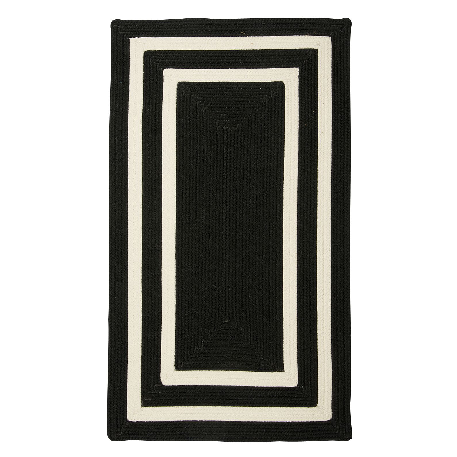 Marti Hand-Woven Outdoor Black Area Rug Rug Size: Rectangle 2' x 3'