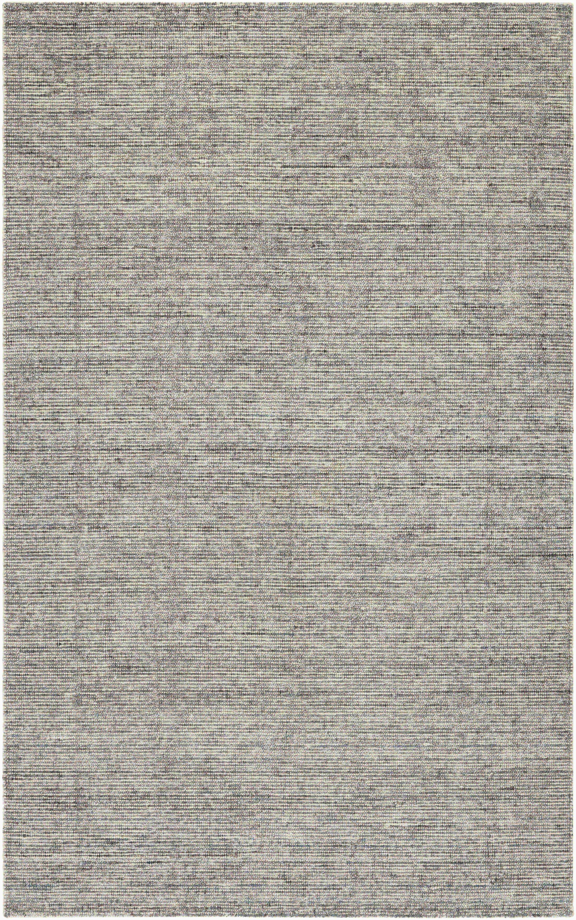 Afton Hand-Loomed Dark Gray Area Rug Rug Size: Rectangle 2' x 4'