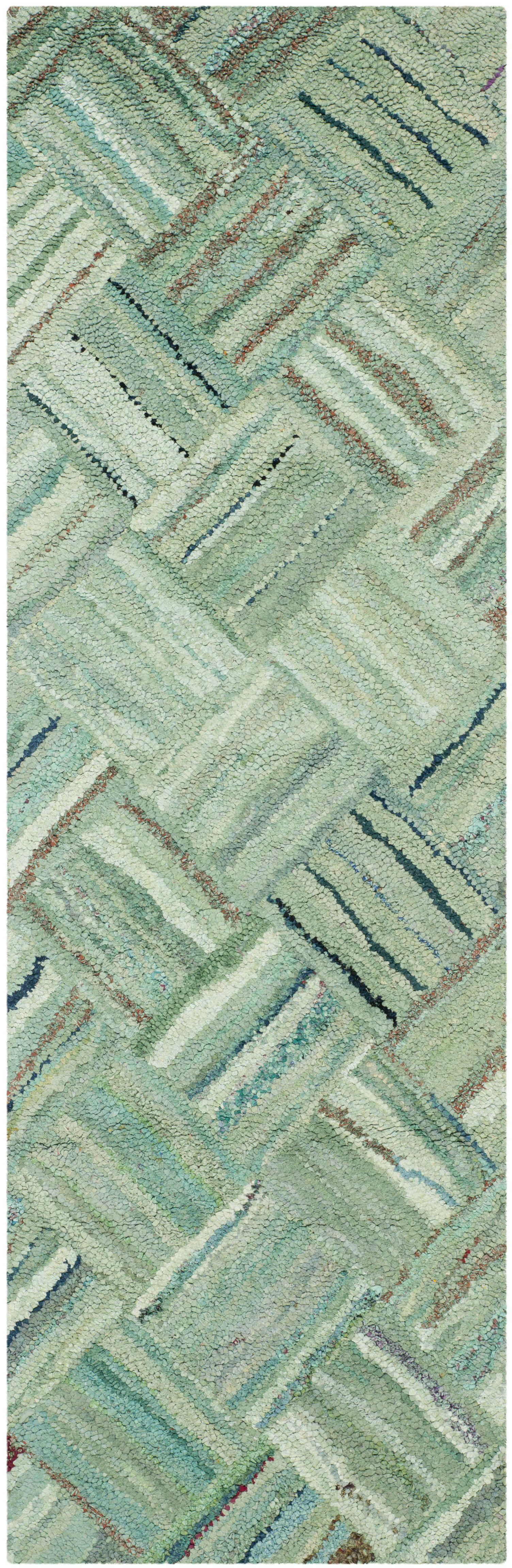 Millia Hand-Tufted Green Area Rug Rug Size: Runner 2'3
