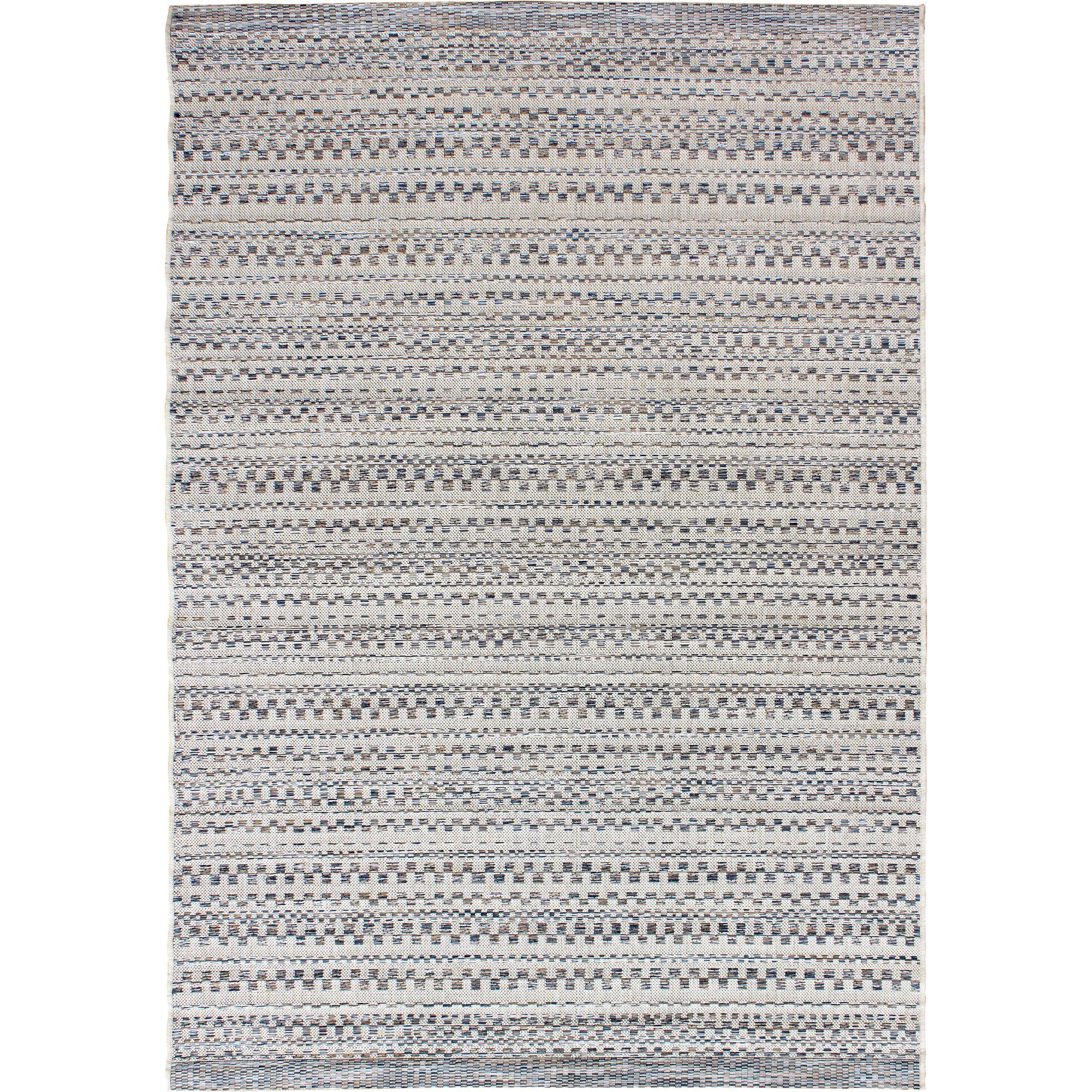 Papillion Dark Blue/Ivory Indoor/Outdoor Area Rug Rug Size: 7'7