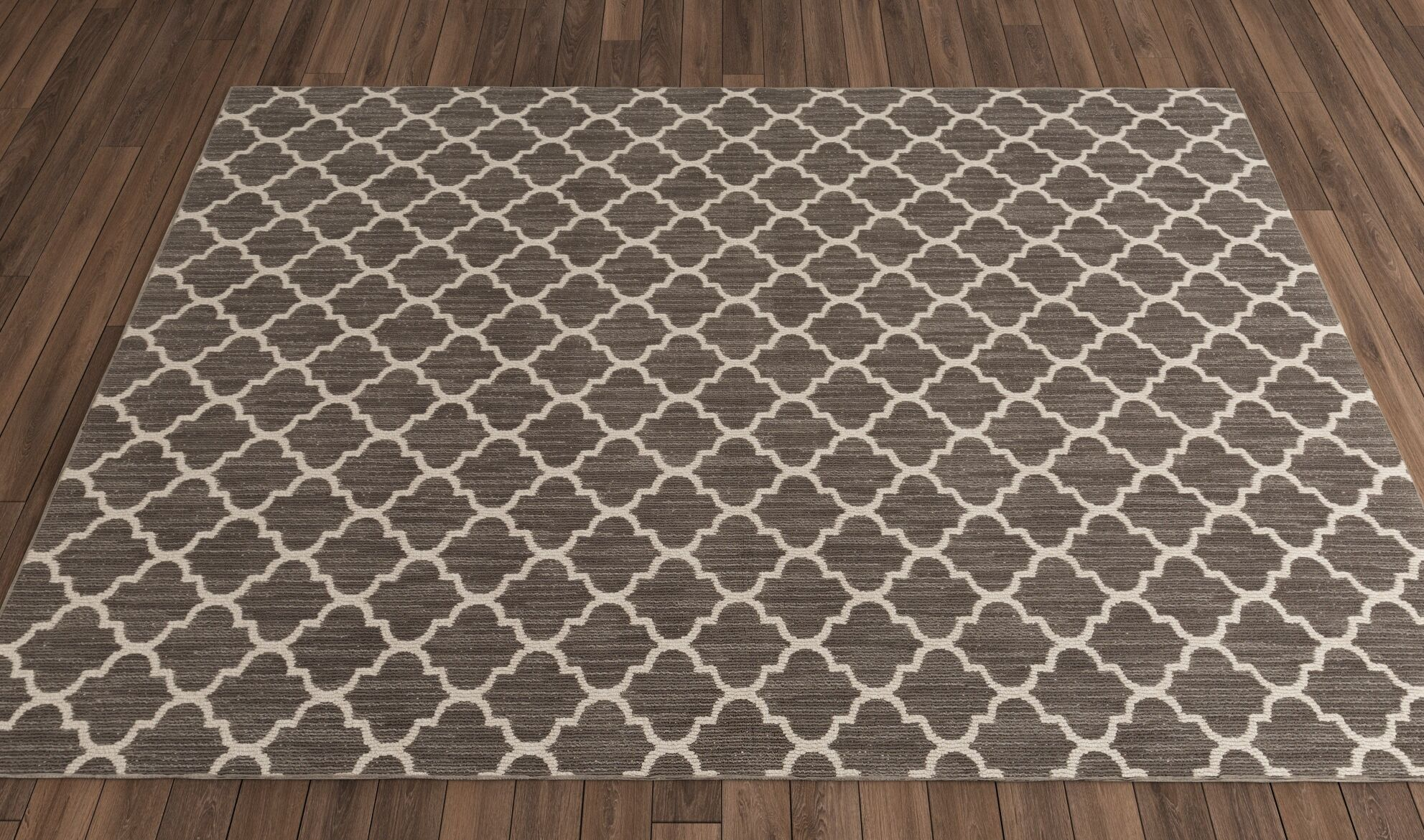 Central Volusia Gray Area Rug Rug Size: Round 4'
