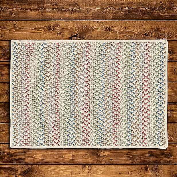 Arvie Hand-Woven Red/Green Area Rug Rug Size: Square 10'
