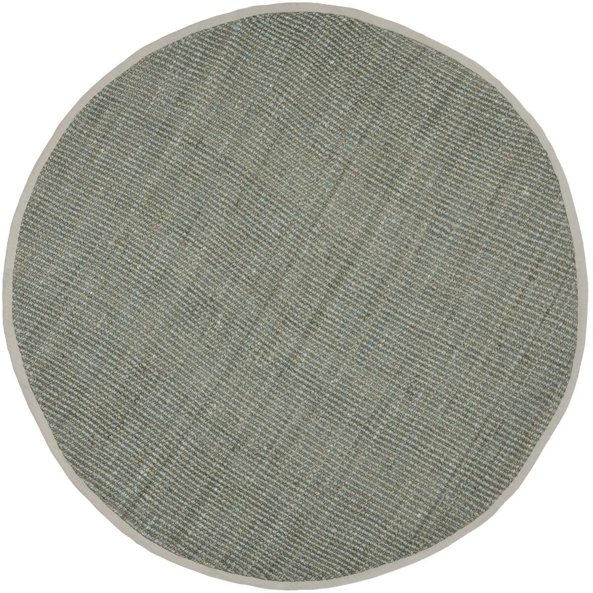 Calidia Hand-Loomed Gray Area Rug Rug Size: Round 5'