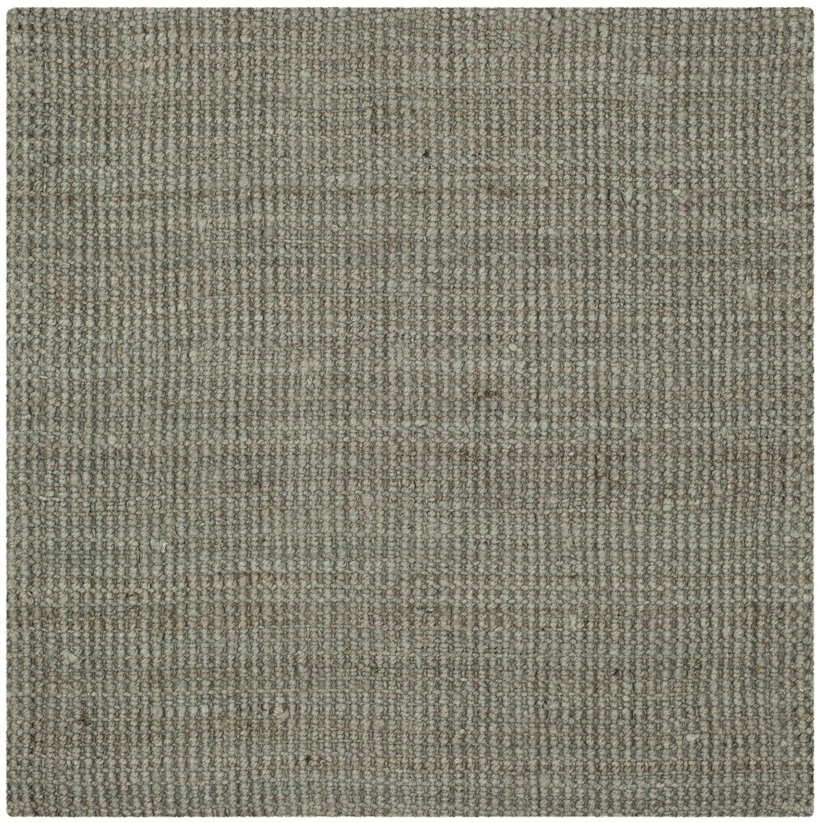Calidia Hand-Loomed Gray Area Rug Rug Size: Square 9'