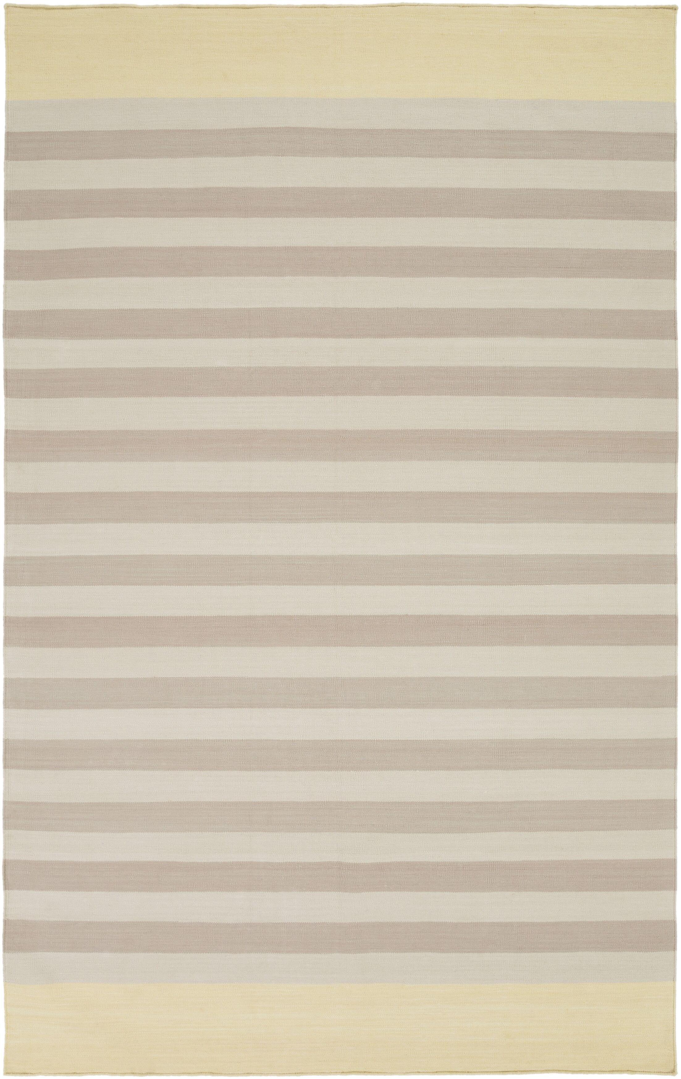 Kinslee Taupe/Light Gray Stripe Area Rug Rug Size: Rectangle 5' x 8'