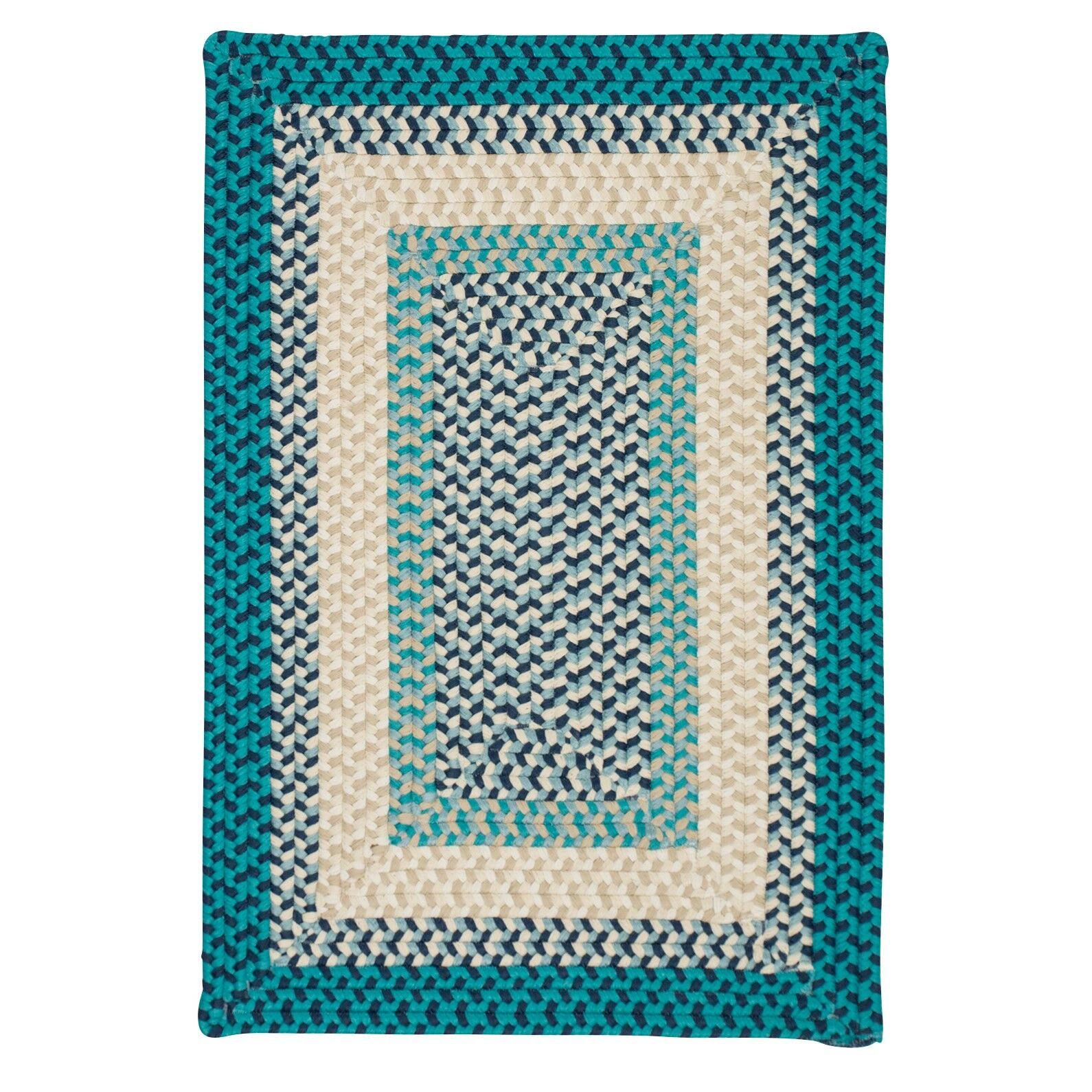 Marathovounos Hand-Woven Wool Blue Area Rug Rug Size: Square 6'