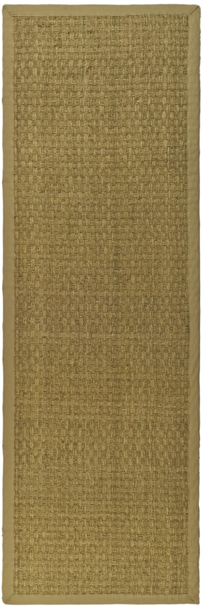Richmond Hand-Woven Natural/Beige Area Rug Rug Size: Runner 2'6