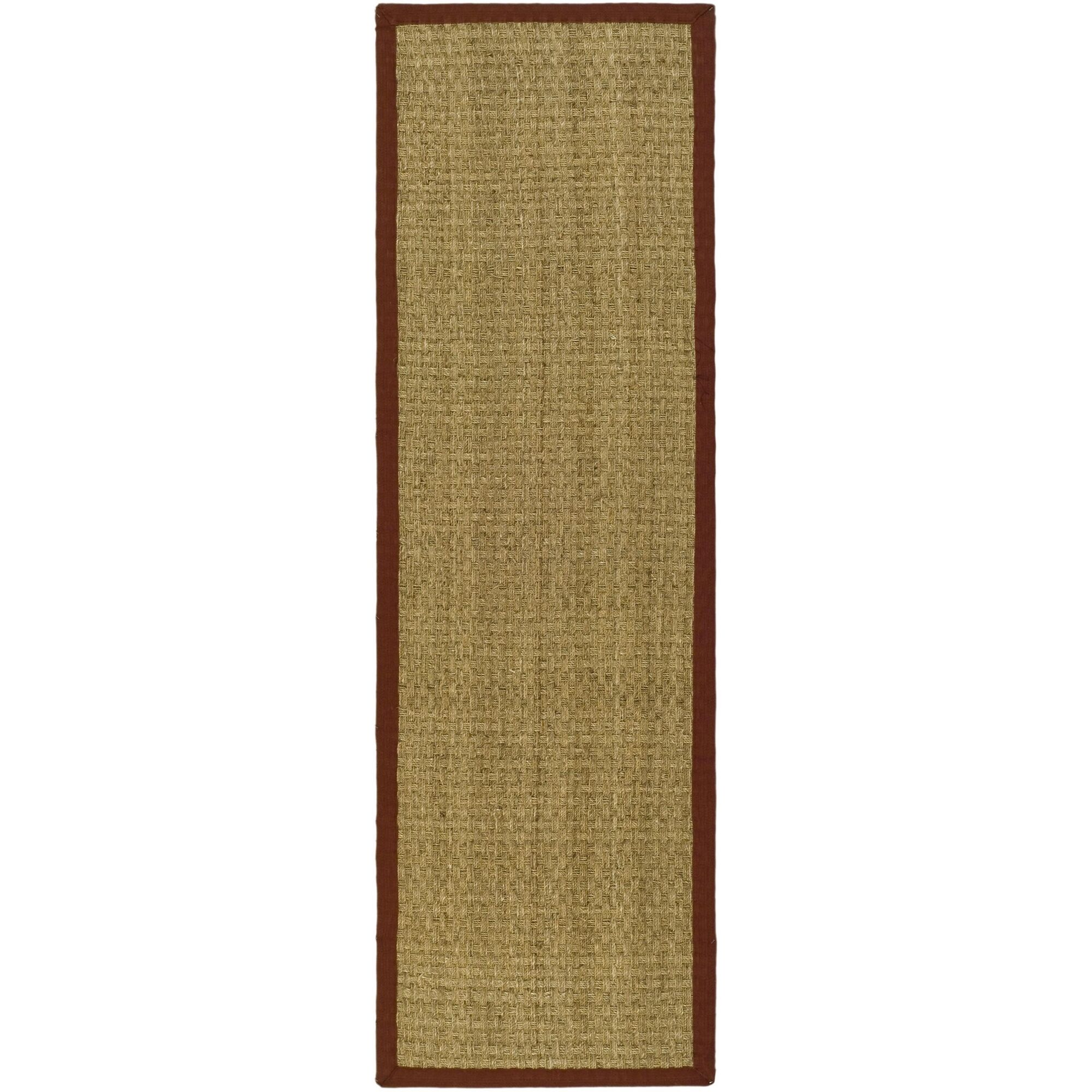 Richmond Hand-Woven Natural/Red Area Rug Rug Size: Runner 2'6