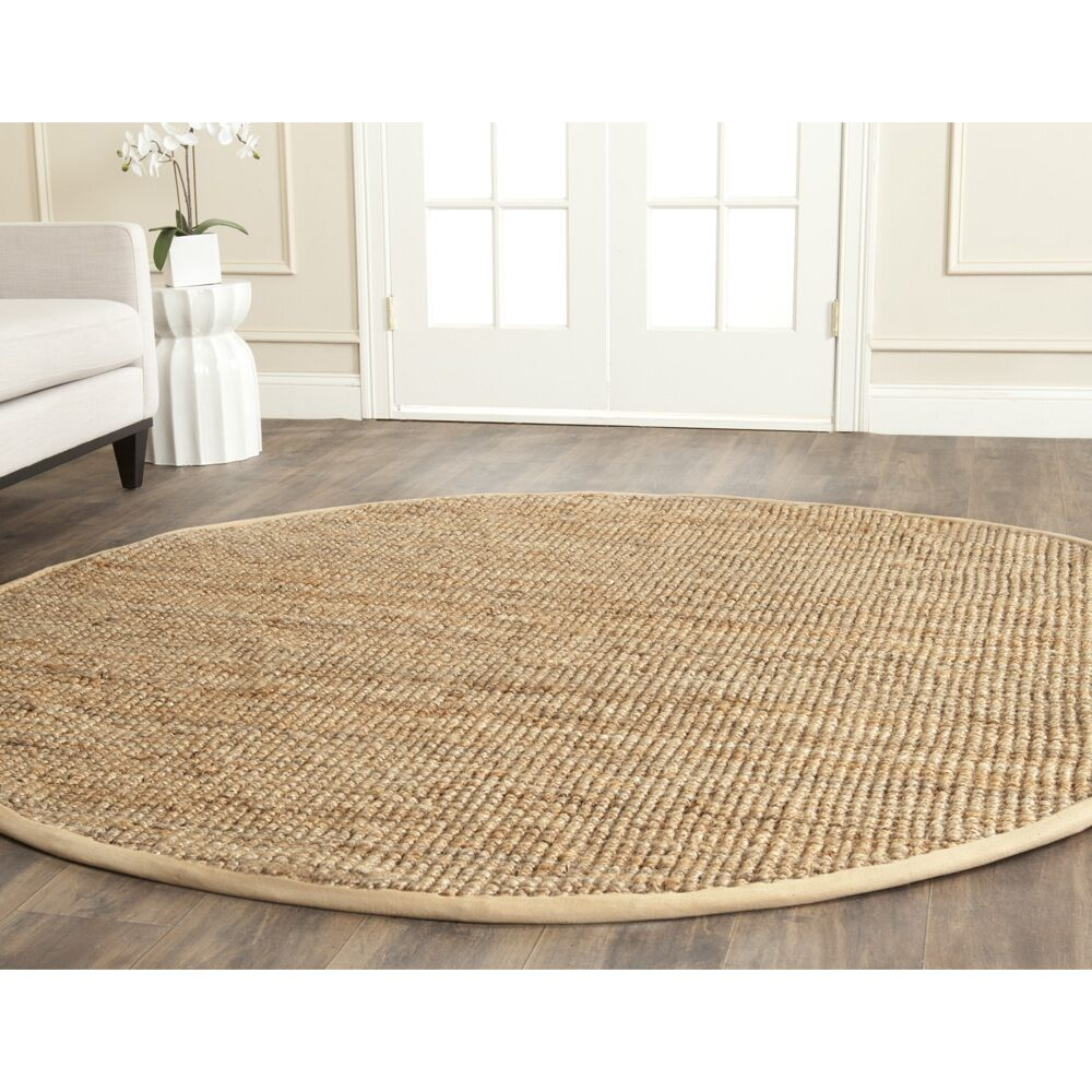 Richmond Hand-Woven Brown Area Rug Rug Size: Round 9'