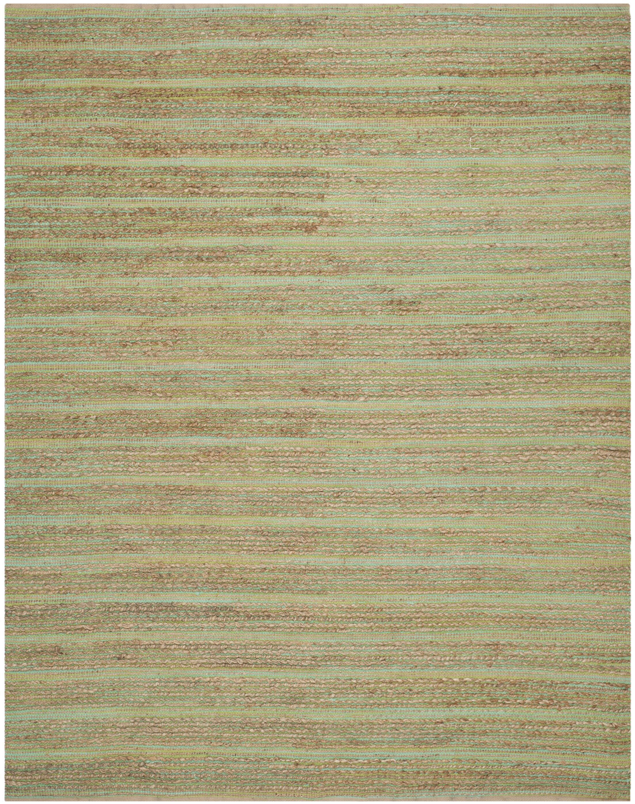 Abia Hand-Woven Light Green Area Rug Rug Size: Rectangle 8' x 10'
