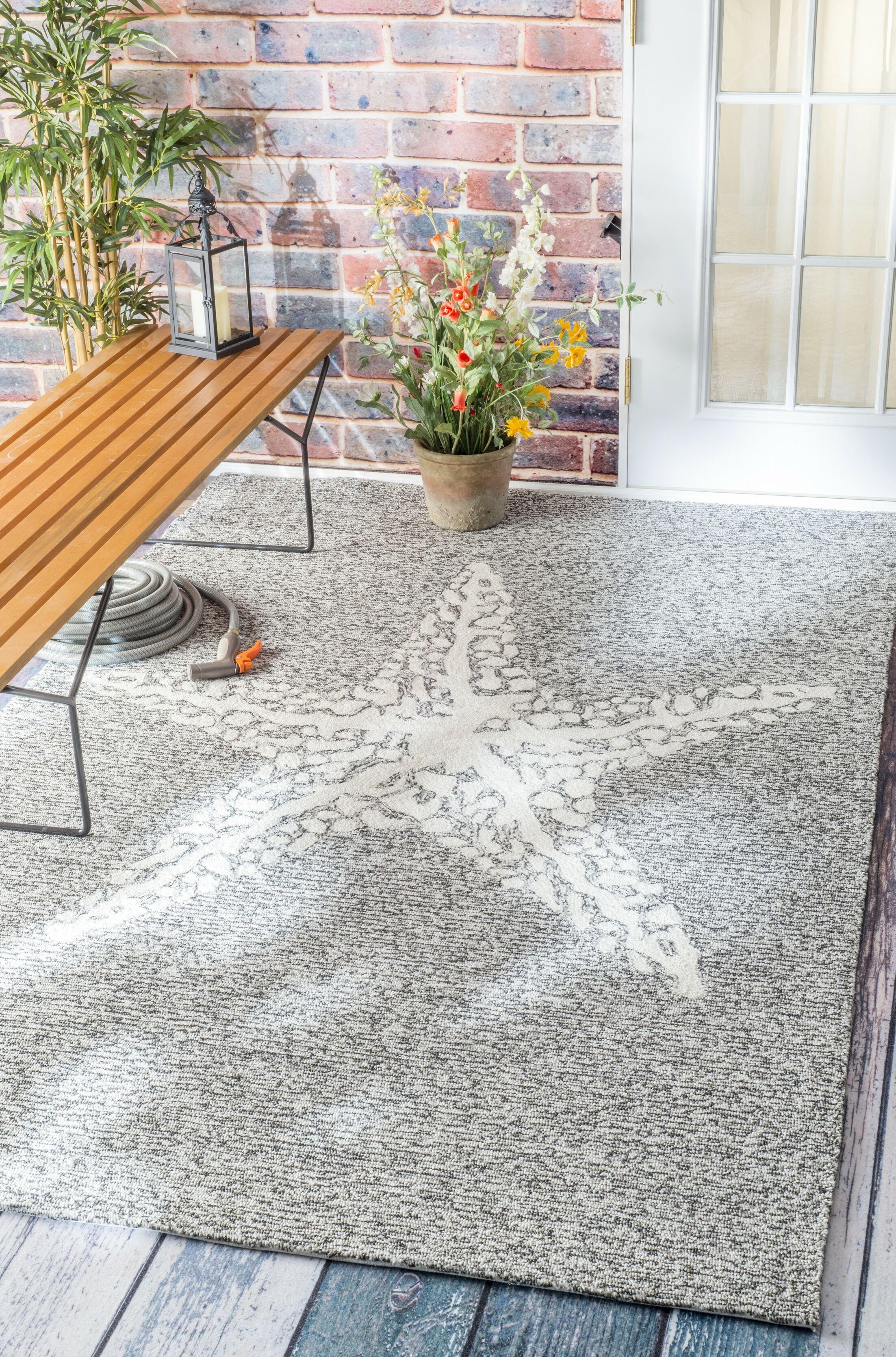 Mallard Gray Indoor/Outdoor Area Rug Rug Size: Rectangle 8' x 10'