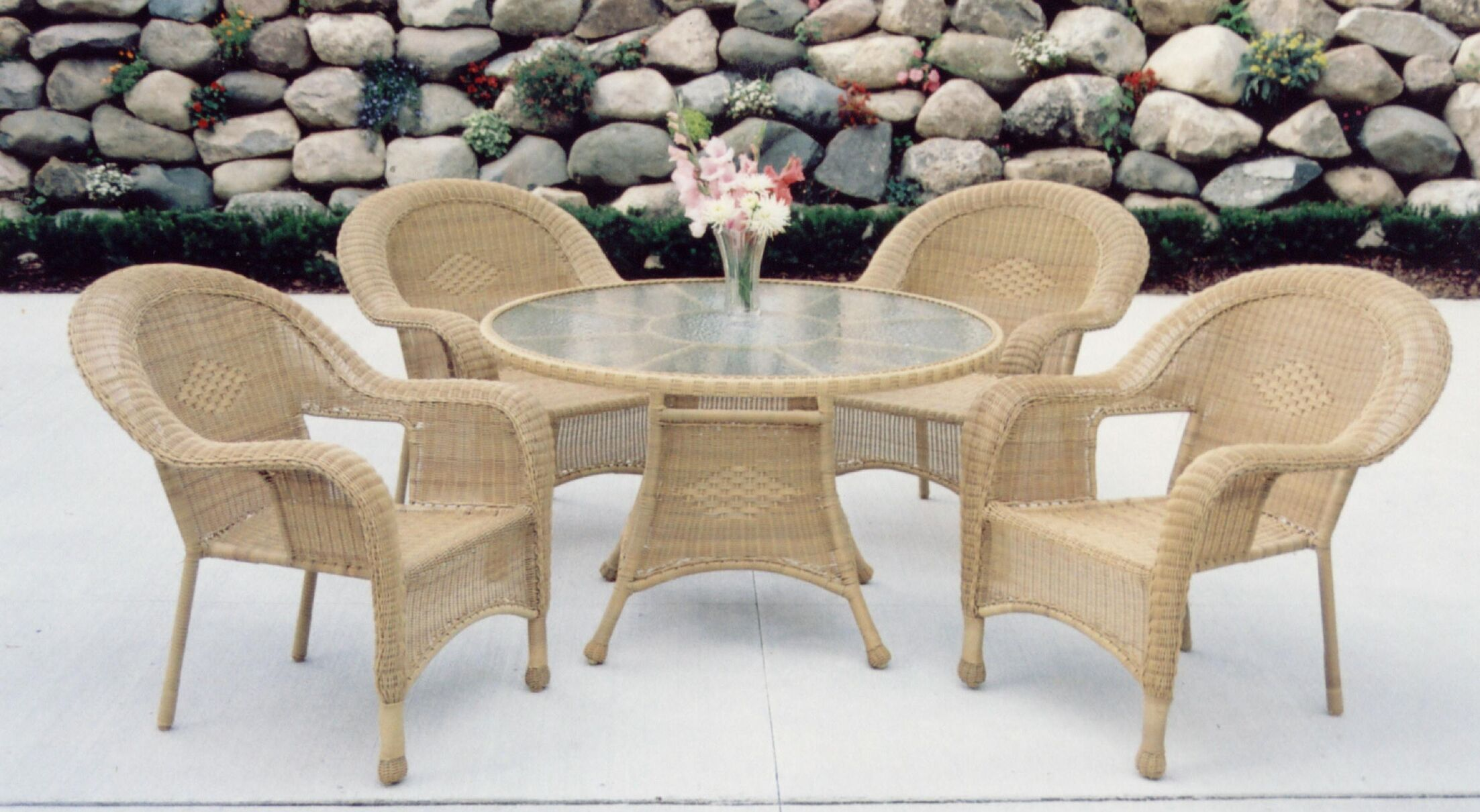 Kingsmill 5 Piece Wicker/Rattan Dining Set Finish: Natural