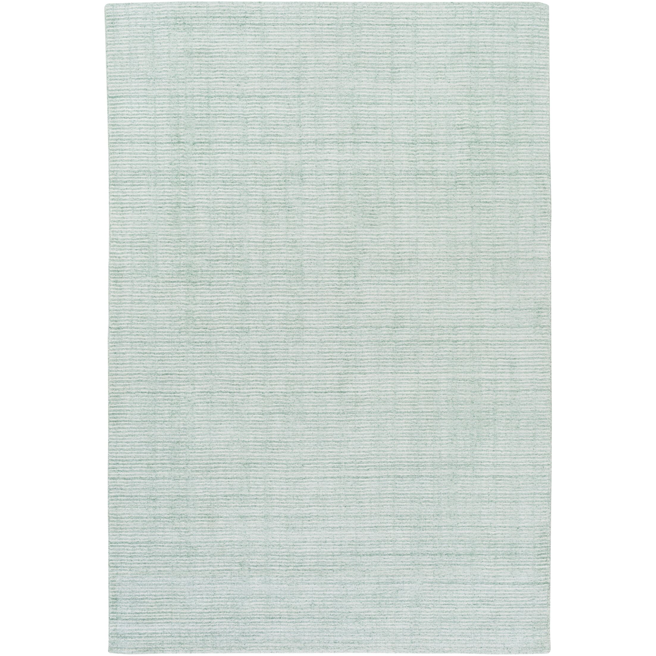 Chesterbrook Hand-Loomed Sea Foam Area Rug Rug Size: Rectangle 4' x 6'