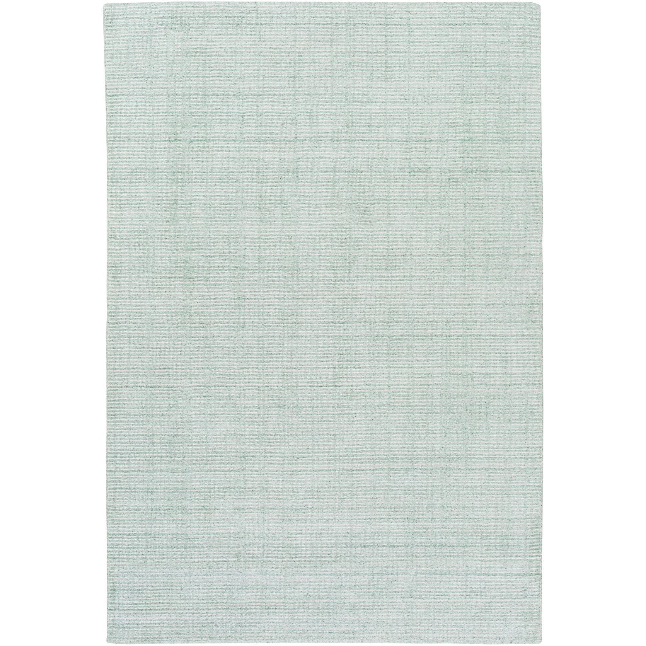 Chesterbrook Hand-Loomed Sea Foam Area Rug Rug Size: Rectangle 8' x 10'