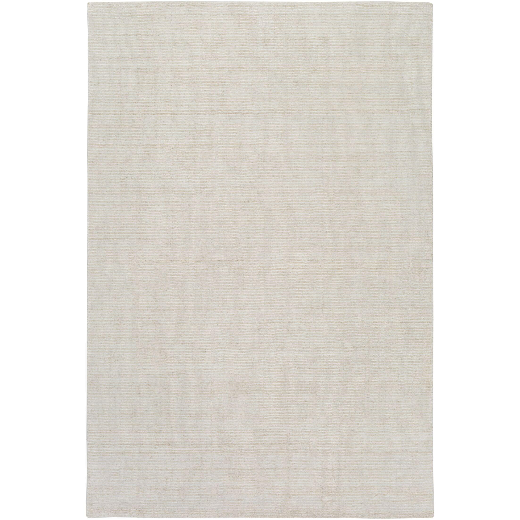 Chesterbrook Hand-Loomed Khaki/Light Gray Area Rug Rug Size: Rectangle 2' x 3'