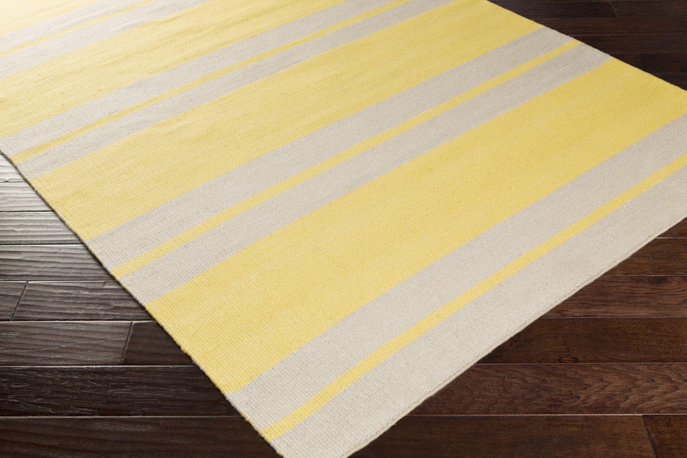 Makrasyka Hand Woven Gold Indoor/Outdoor Area Rug Rug Size: Rectangle 5' x 7'6