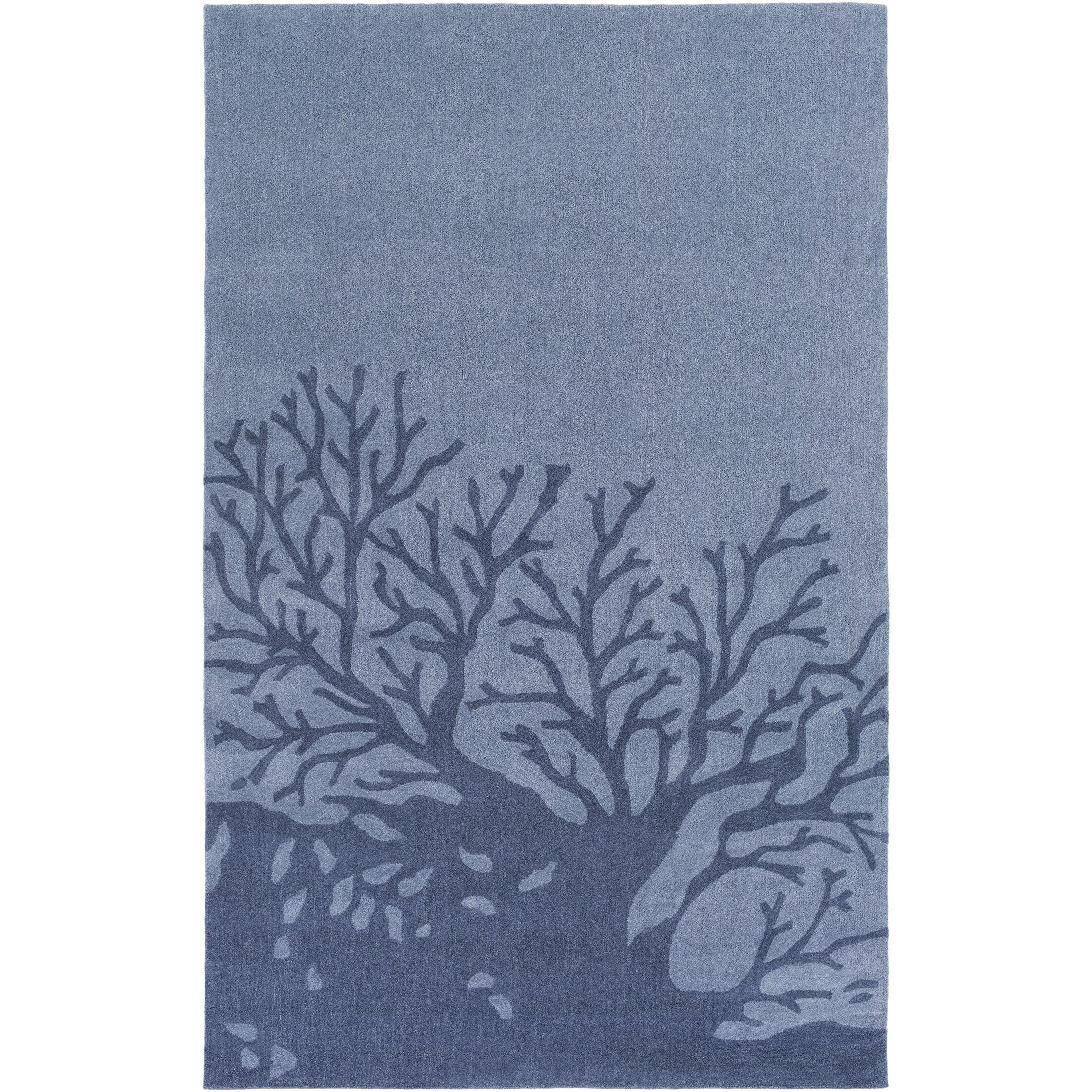 Charlestown Hand-Tufted Denim/Navy Area Rug Rug Size: Rectangle 8' x 10'