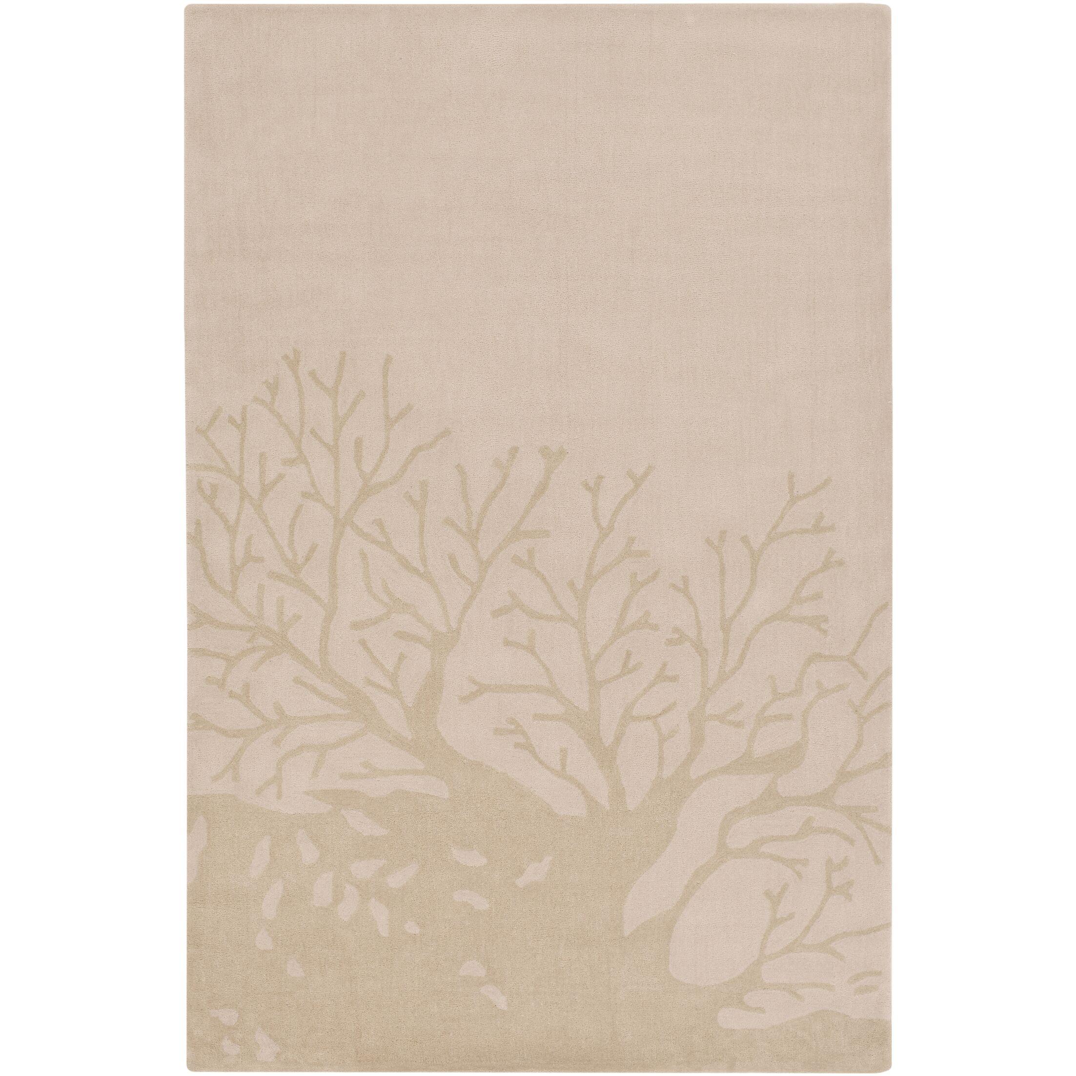 Charlestown Hand-Tufted Blush/Khaki Area Rug Rug Size: Rectangle 8' x 10'