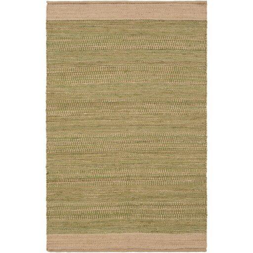 Boughner Hand-Woven Grass Green/Khaki Area Rug Rug Size: Rectangle 5' x 7'6
