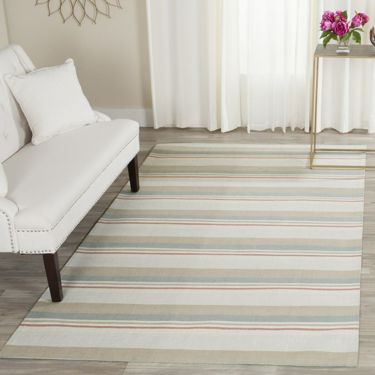 Caja Hand-Woven Gray/Brown/Blue Area Rug Rug Size: Runner 2'3