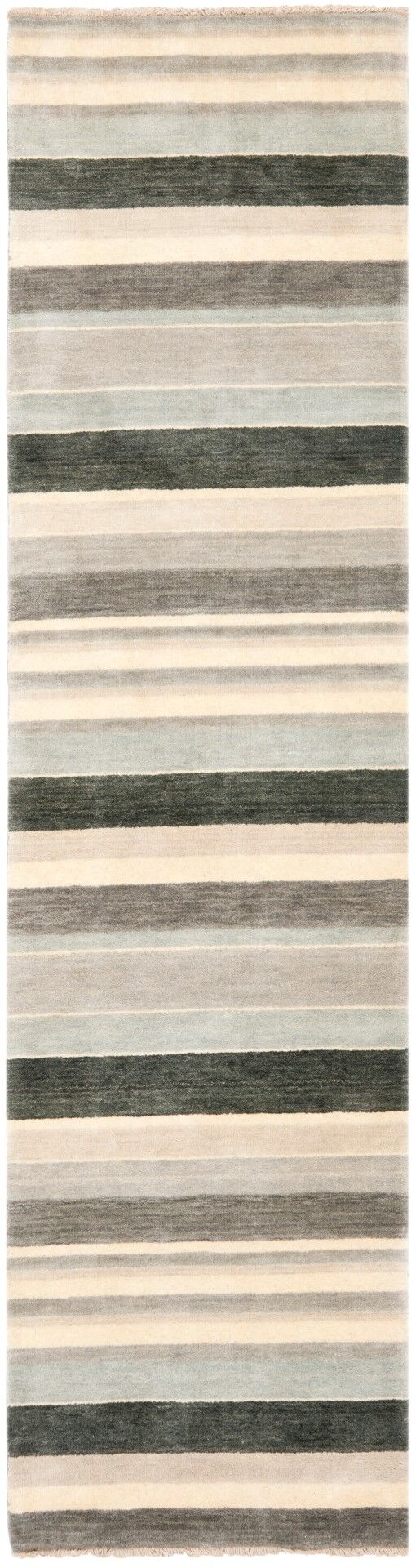 Brookvale Hand-Knotted Gray Area Rug Rug Size: Runner 2' x 8'