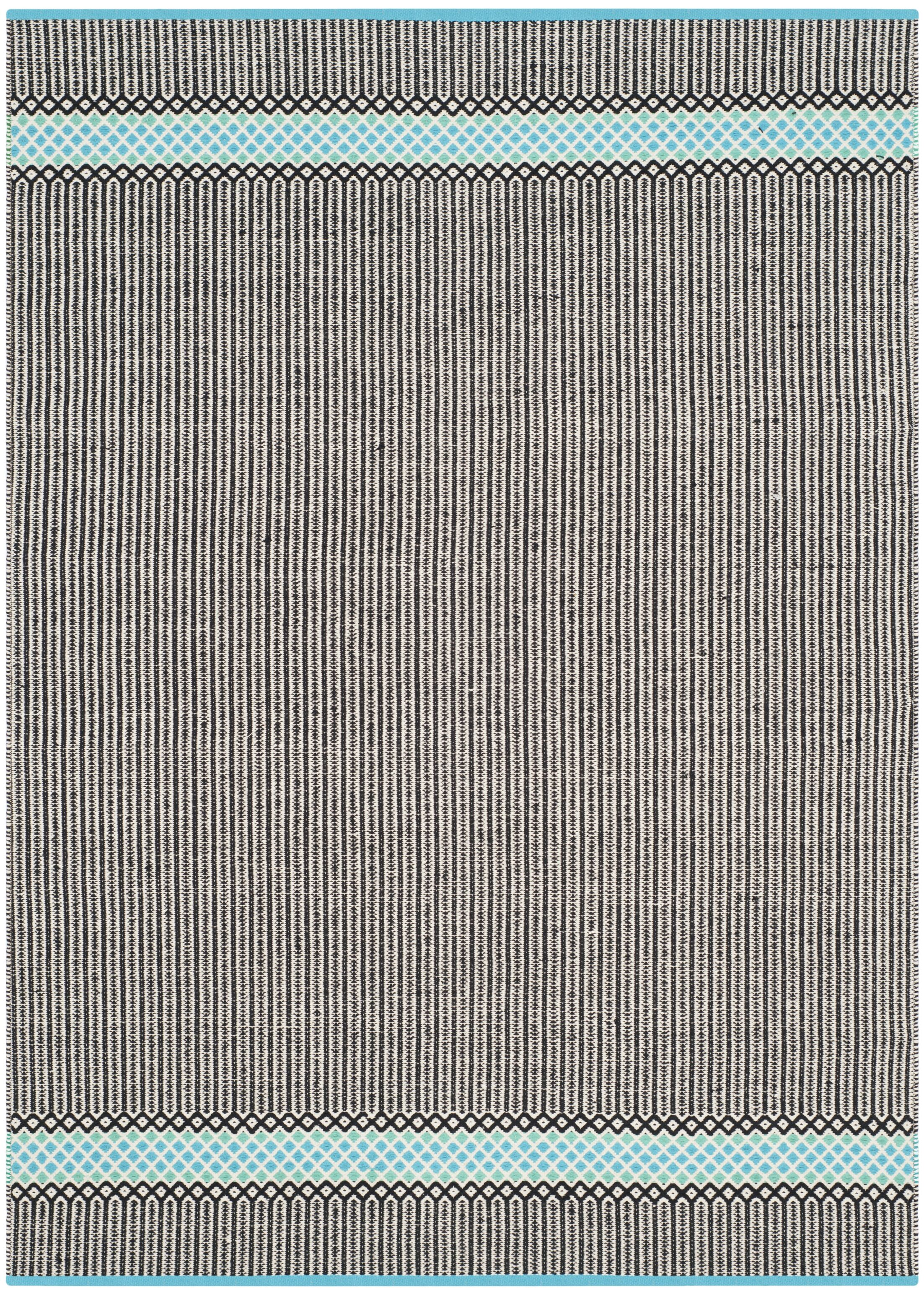 Shevchenko Place Hand-Woven Turquoise Area Rug Rug Size: Rectangle 5' x 8'