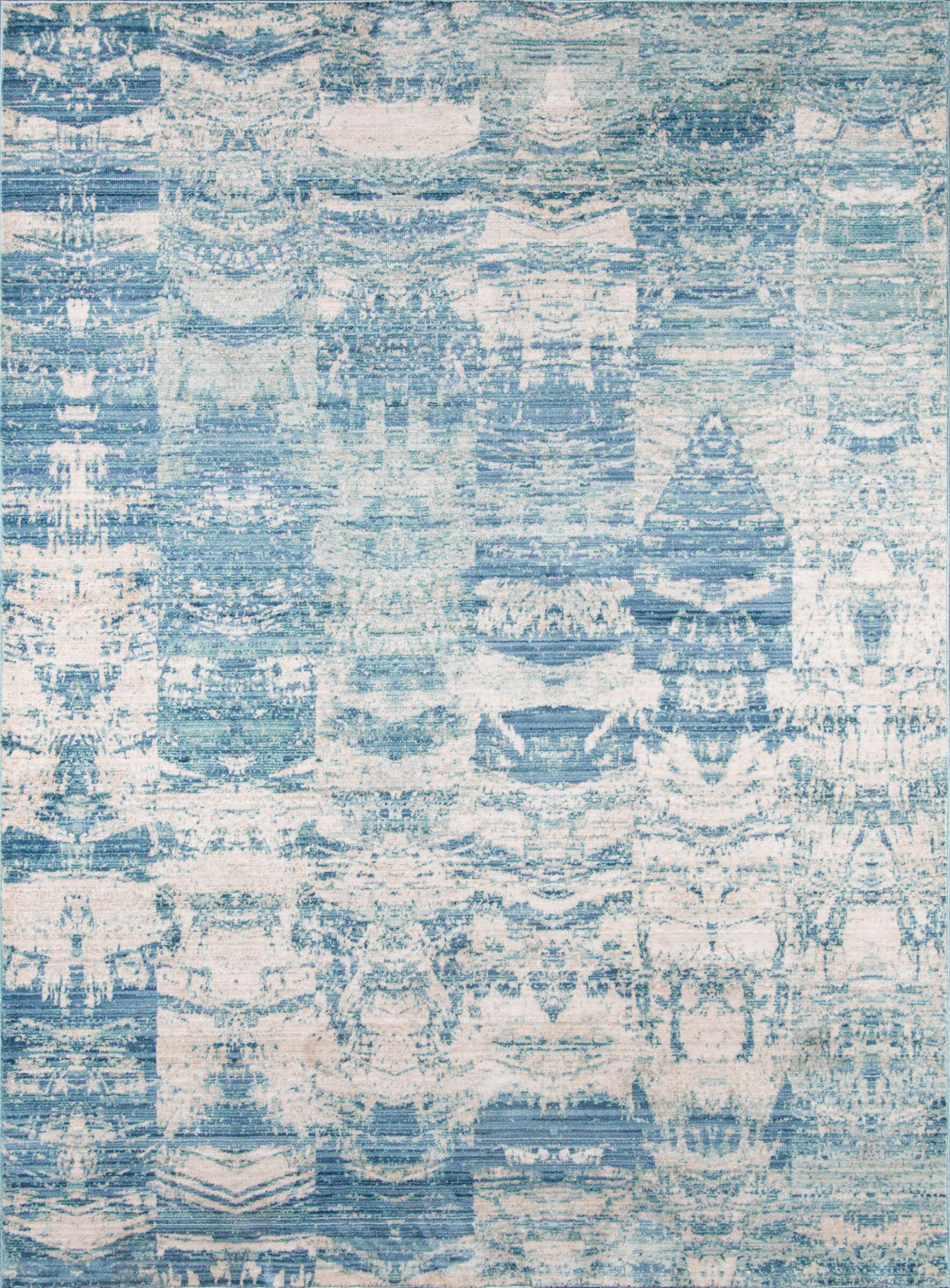 Bryne Blue/White Area Rug Rug Size: Rectangle 5' x 8'