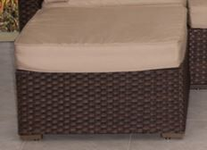Aquia Creek Sectional Ottoman with Cushion Color: Sunbrella Antique Beige