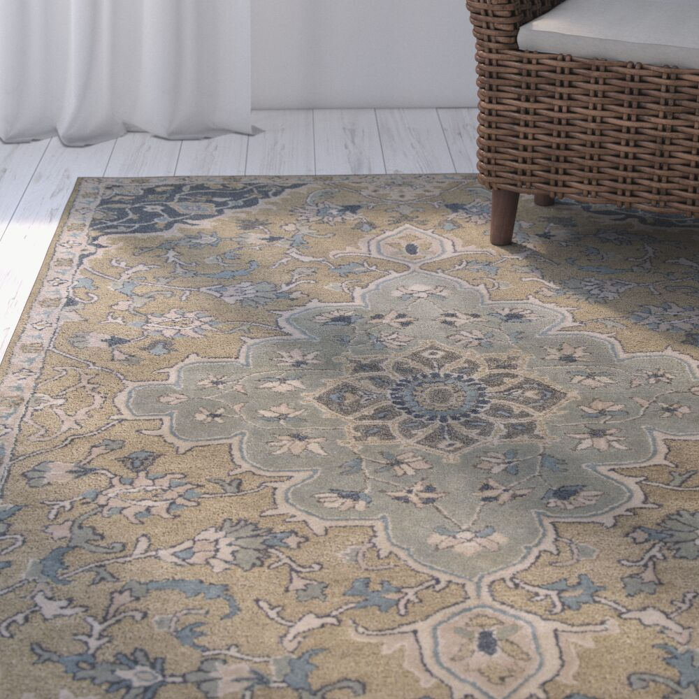 London Hand-Tufted Taupe/Gray Area Rug Rug Size: Rectangle 5' x 8'