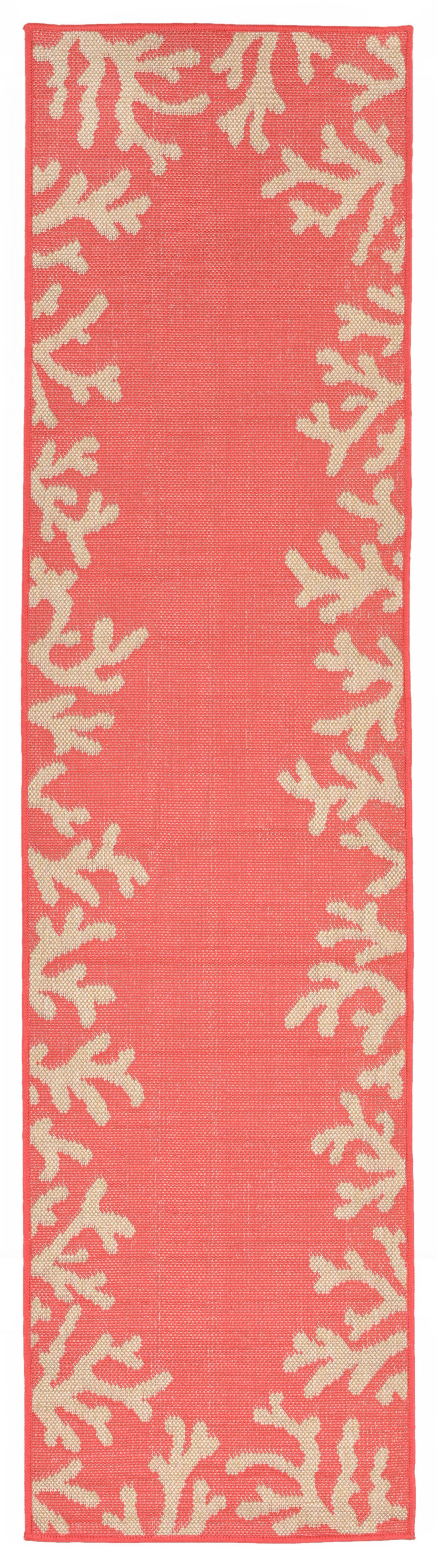 Claycomb Hand-Tufted Orange Indoor/Outdoor Area Rug Rug Size: Runner 2' x 8'
