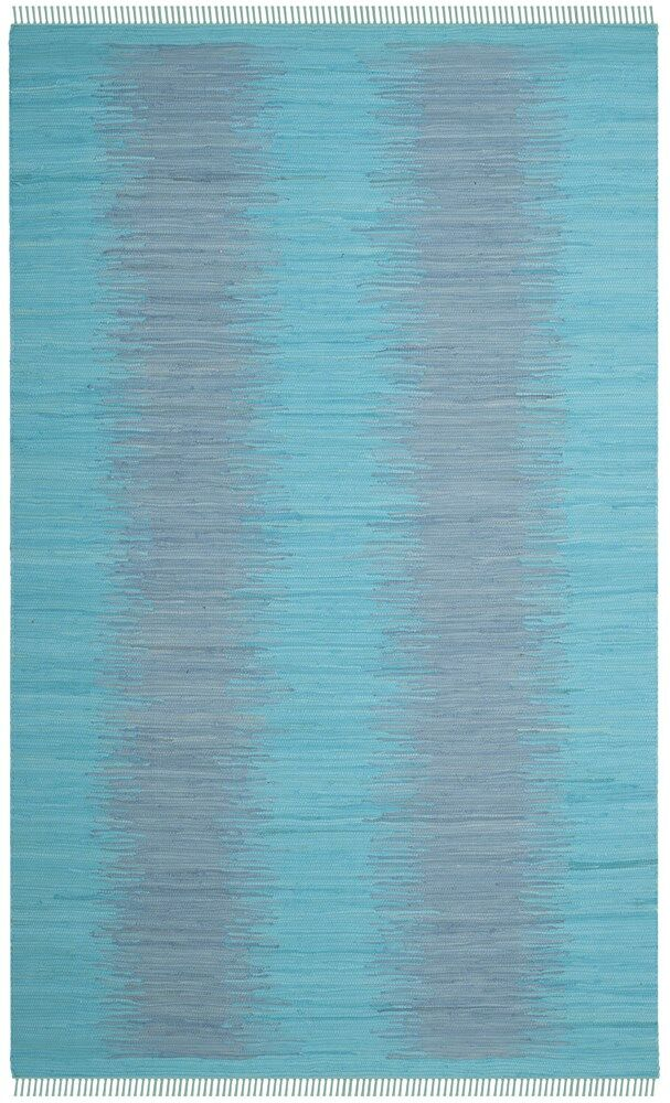 Cayman Hand-Woven Turquoise Cotton Area Rug Rug Size: Rectangle 5' x 8'