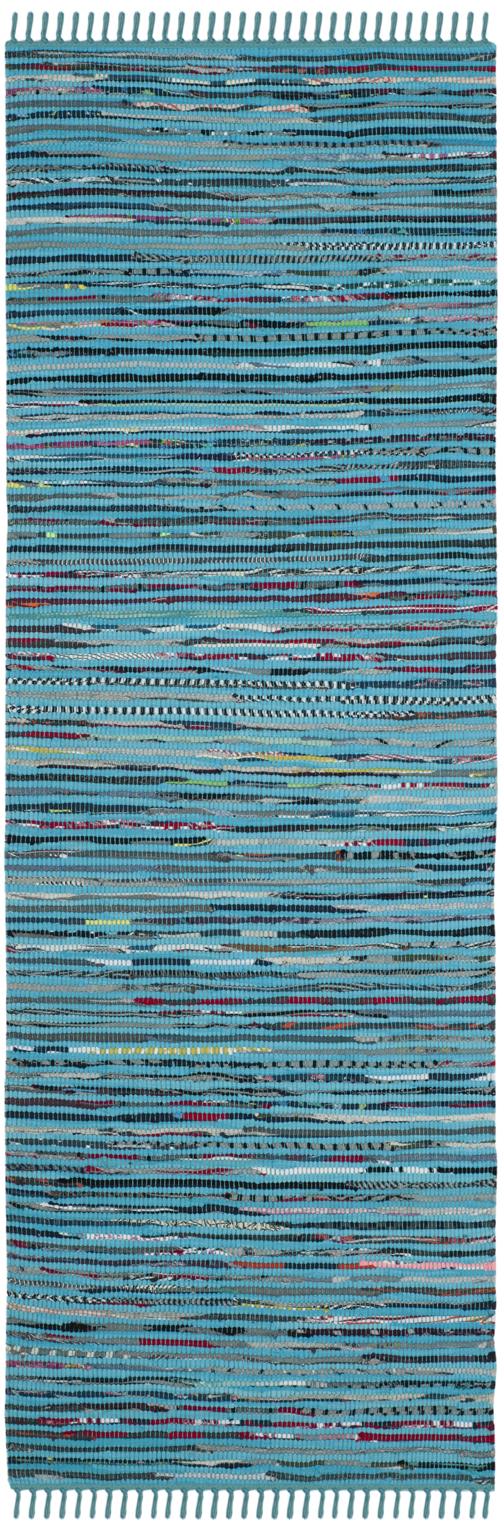 Nerys Hand-Woven Cotton Turquoise Area Rug Rug Size: Rectangle 6' x 9'