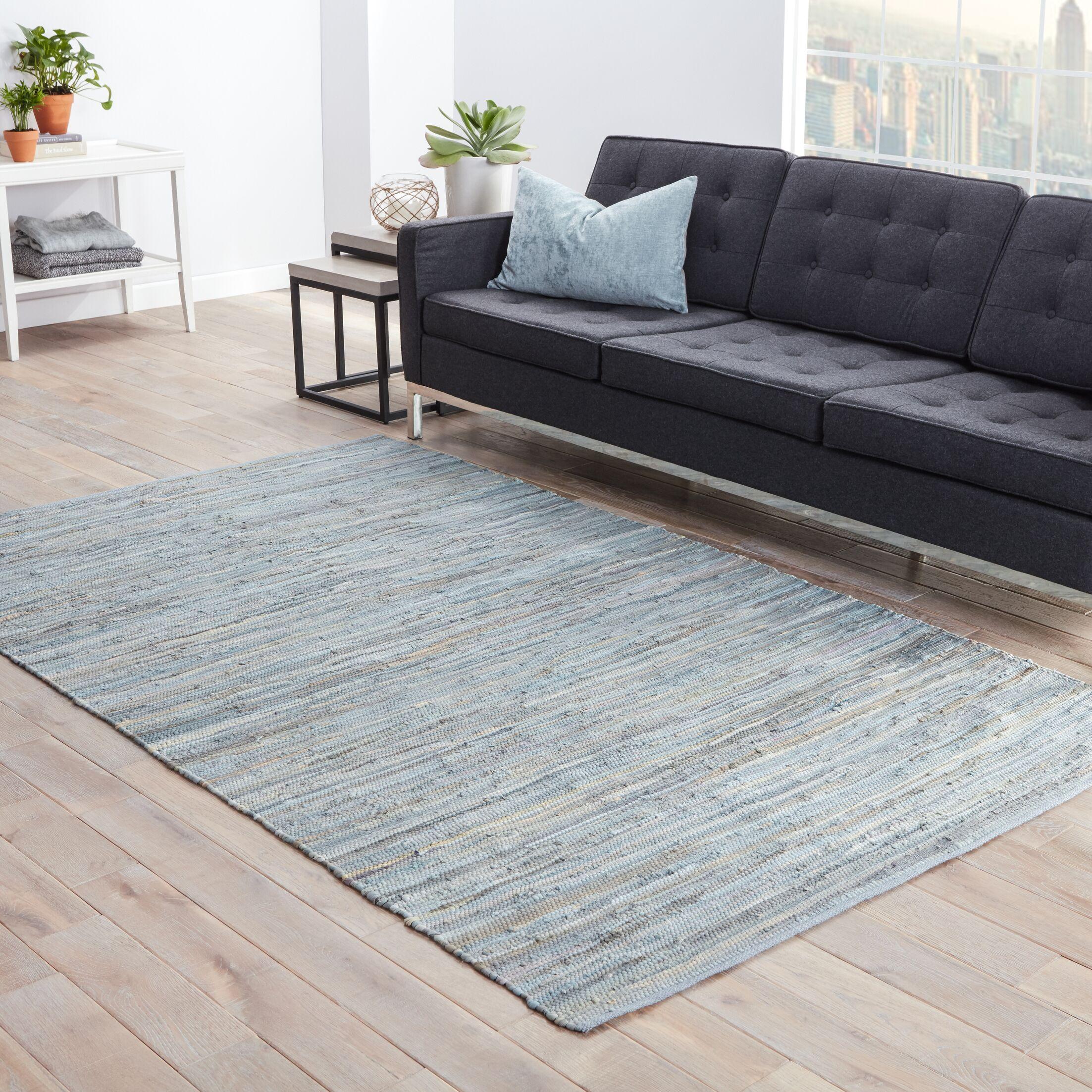 Cummins Cotton Solids/Handloom Blue Area Rug Rug Size: Rectangle 5' x 8'