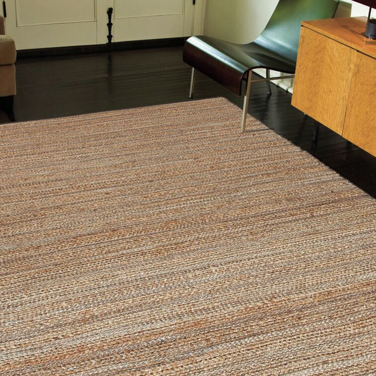 Ina Hand-Woven Brown/Gray Area Rug Rug Size: Rectangle 8' x 10'