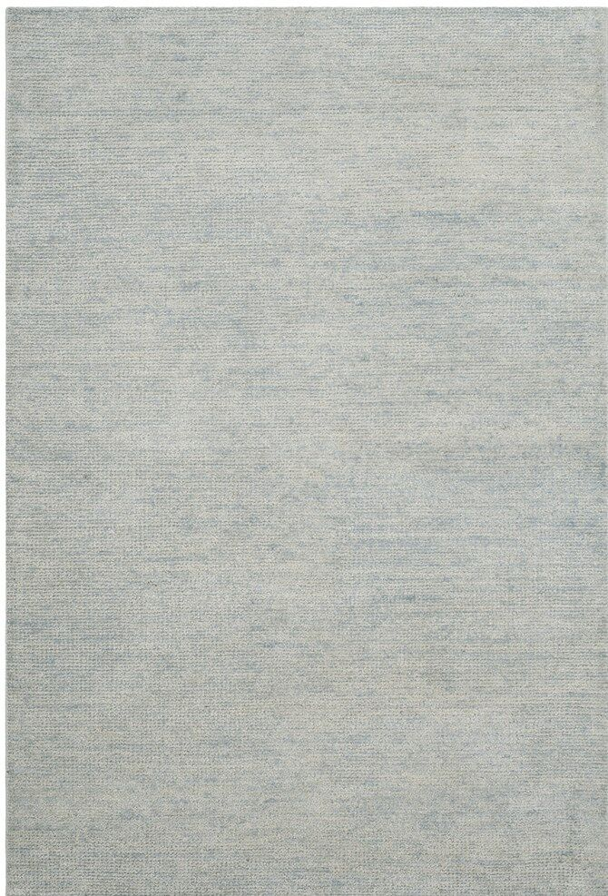 McArthur Hand-Knotted Plain Gray Area Rug Rug Size: Rectangle 5' x 8'