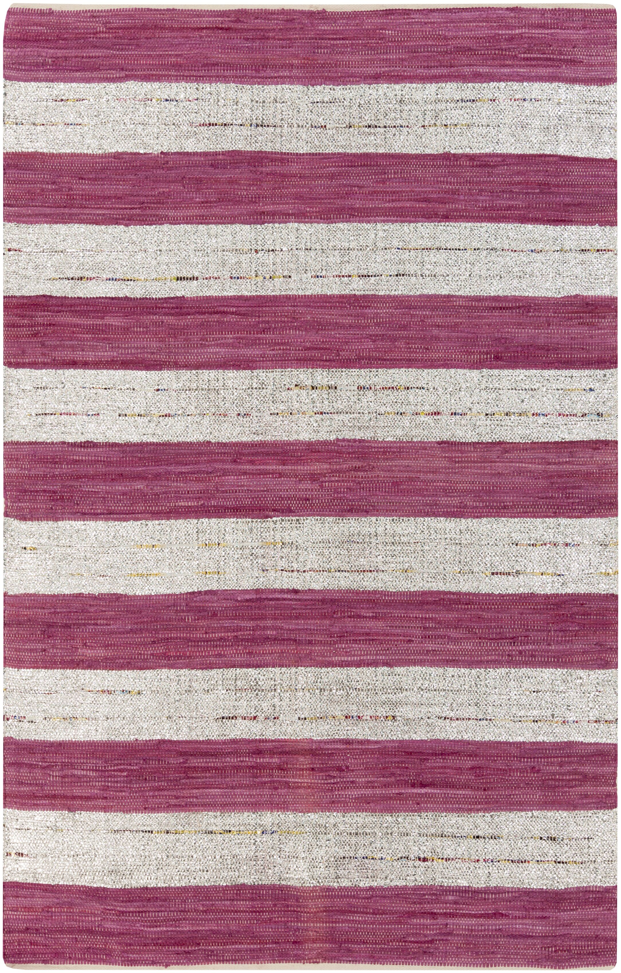 Chesterfield Magenta & Gray Area Rug Rug Size: Rectangle 5' x 8'