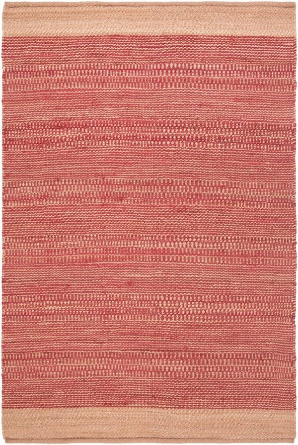 Boughner Hand-Woven Bright Red/Khaki Area Rug Rug Size: Rectangle 5' x 7'6