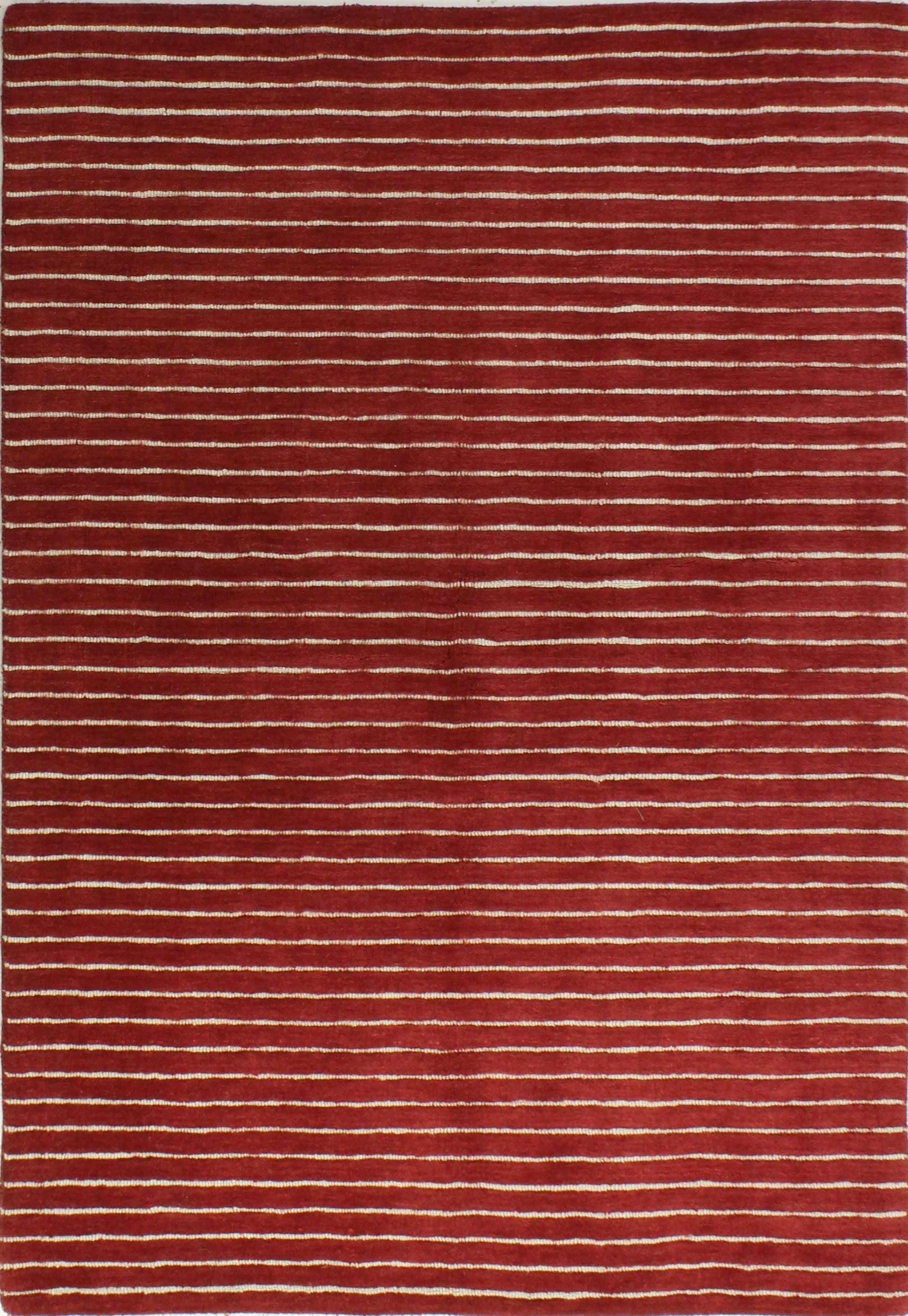 Grayville Hand Woven Wool Red Area Rug Rug Size: Rectangle 3'6