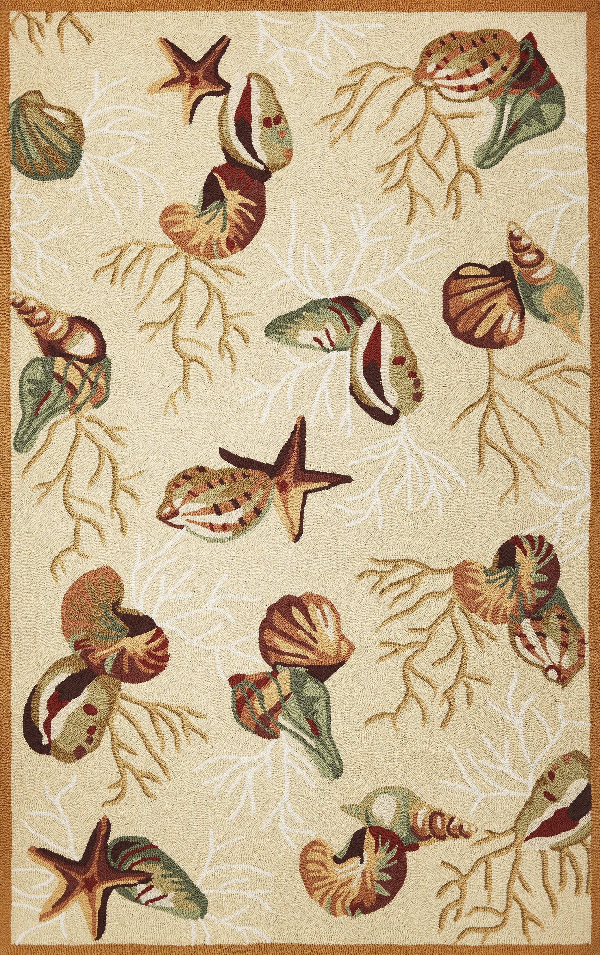 Chamberlin Beige Coral Reef Rug Rug Size: Rectangle 3'3